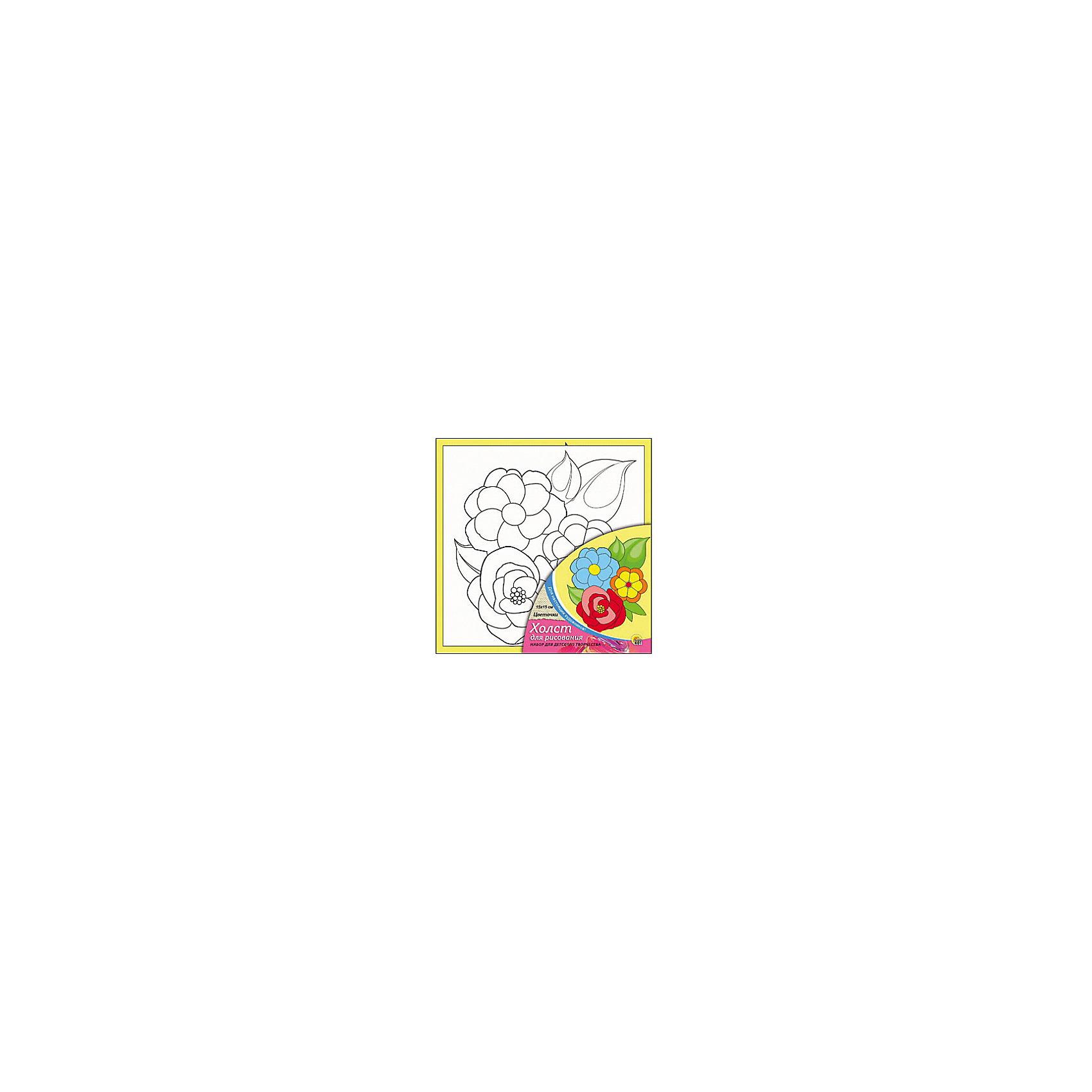 Холст с красками Цветочки, 15х15 смРисование<br>Цветочки - необыкновенный набор для детского творчества. Для того, чтобы оживить черно-белый эскиз, нужно нанести на него яркие акриловые краски, входящие в набор. Очаровательная картинка с цветами понравится малышу и он сможет украсить ею свою комнату, а может даже подарить друзьям или близким. Творчество с таким набором хорошо развивает творческие навыки, усидчивость и аккуратность. Замечательный подарок для юного художника!<br><br>Дополнительная информация:<br>В комплекте: холст с эскизом, 7 акриловых красок, кисточка<br>Размер: 15х1,5х15 см<br>Вес: 140 грамм<br>Холст с красками Цветочки можно приобрести в нашем интернет-магазине.<br><br>Ширина мм: 150<br>Глубина мм: 15<br>Высота мм: 150<br>Вес г: 140<br>Возраст от месяцев: 36<br>Возраст до месяцев: 120<br>Пол: Унисекс<br>Возраст: Детский<br>SKU: 4939500
