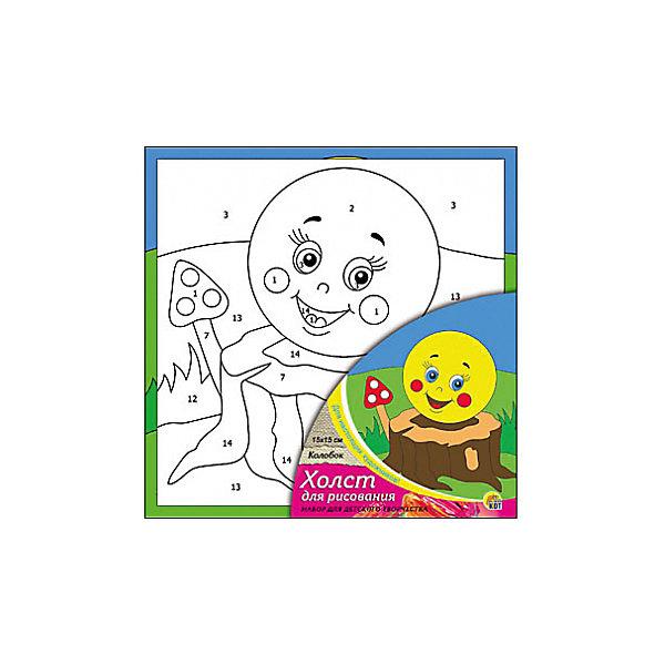 Холст с красками по номерам Колобок, 15х15 смРаскраски по номерам<br>Набор для творчества Колобок поможет ребенку своими руками создать яркий, привлекающий внимание шедевр. Достаточно правильно нанести на рисунок краску, соответствующую номеру на холсте, и картинка словно оживет и будет привлекать внимание своей красотой и уникальностью. В процессе творчества ребенок будет развивать художественные навыки и внимание. Отличный выбор для творческих детей!<br><br>Дополнительная информация:<br>В комплекте: 1 холст с эскизом, 7 акриловых красок, кисточка<br>Сказочный персонаж: Колобок<br>Размер: 15х1,5х15 см<br>Вес: 140 грамм<br>Вы можете купить набор для творчества Колобок в нашем интернет-магазине.<br>Ширина мм: 150; Глубина мм: 15; Высота мм: 150; Вес г: 140; Возраст от месяцев: 36; Возраст до месяцев: 120; Пол: Унисекс; Возраст: Детский; SKU: 4939501;