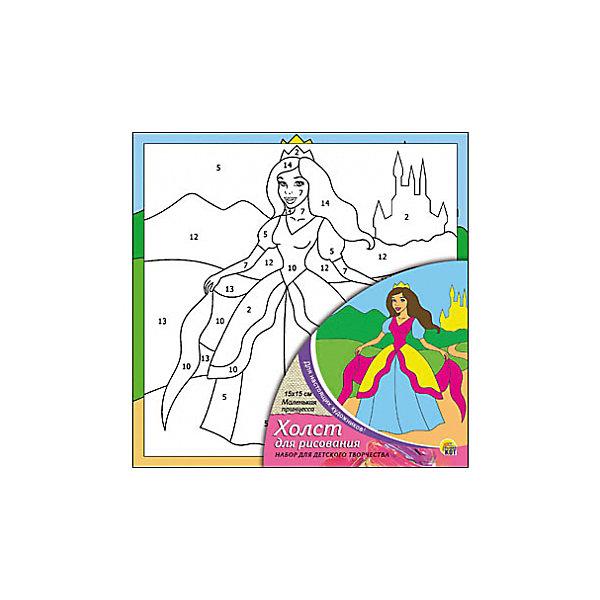 Холст с красками по номерам Маленькая принцесса, 15х15 смРаскраски по номерам<br>Набор для творчества Маленькая принцесса поможет ребенку своими руками создать яркий, привлекающий внимание шедевр. Достаточно правильно нанести на рисунок краску, соответствующую номеру на холсте, и картинка словно оживет и будет привлекать внимание своей красотой и уникальностью. В процессе творчества ребенок будет развивать художественные навыки и внимание. Отличный выбор для творческих детей!<br><br>Дополнительная информация:<br>В комплекте: 1 холст с эскизом, 7 акриловых красок, кисточка<br>Сказочный персонаж: принцесса<br>Размер: 15х1,5х15 см<br>Вес: 140 грамм<br>Вы можете купить набор для творчества Маленькая принцесса в нашем интернет-магазине.<br><br>Ширина мм: 150<br>Глубина мм: 15<br>Высота мм: 150<br>Вес г: 140<br>Возраст от месяцев: 36<br>Возраст до месяцев: 120<br>Пол: Унисекс<br>Возраст: Детский<br>SKU: 4939505