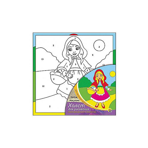 Холст с красками по номерам Моя сказка, 15х15 смРаскраски по номерам<br>Набор для творчества Моя сказка поможет ребенку своими руками создать яркий, привлекающий внимание шедевр. Достаточно правильно нанести на рисунок краску, соответствующую номеру на холсте, и картинка словно оживет и будет привлекать внимание своей красотой и уникальностью. В процессе творчества ребенок будет развивать художественные навыки и внимание. Отличный выбор для творческих детей!<br><br>Дополнительная информация:<br>В комплекте: 1 холст с эскизом, 7 акриловых красок, кисточка<br>Сказочный персонаж: Красная Шапочка<br>Размер: 15х1,5х15 см<br>Вес: 140 грамм<br>Вы можете купить набор для творчества Моя сказка в нашем интернет-магазине.<br><br>Ширина мм: 150<br>Глубина мм: 15<br>Высота мм: 150<br>Вес г: 140<br>Возраст от месяцев: 36<br>Возраст до месяцев: 120<br>Пол: Унисекс<br>Возраст: Детский<br>SKU: 4939506