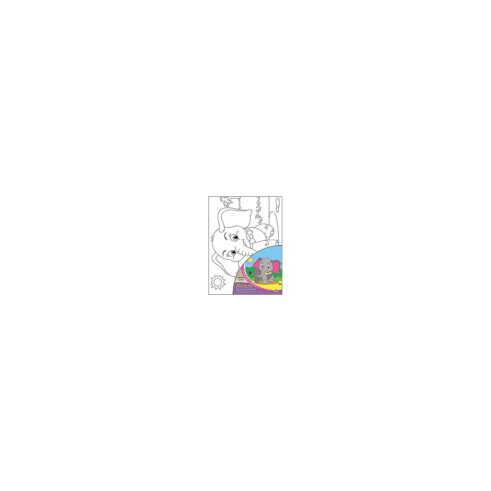 Холст с красками по номерам Слоник, 18х24 смСлоник - набор для детского творчества. Ребенку предстоит раскрасить холст с нанесенным эскизом по номерам. Прекрасно развивает аккуратность, внимание и усидчивость. Такой набор обязательно понравится начинающим художникам!<br><br>Дополнительная информация:<br>В наборе: холст-эскиз, 7 баночек с акриловой краской, кисточка<br>Размер: 18х1,5х24 см<br>Вес: 180 грамм<br>Вы можете приобрести набор Слоник в нашем интернет-магазине.<br><br>Ширина мм: 240<br>Глубина мм: 15<br>Высота мм: 180<br>Вес г: 180<br>Возраст от месяцев: 36<br>Возраст до месяцев: 120<br>Пол: Унисекс<br>Возраст: Детский<br>SKU: 4939517