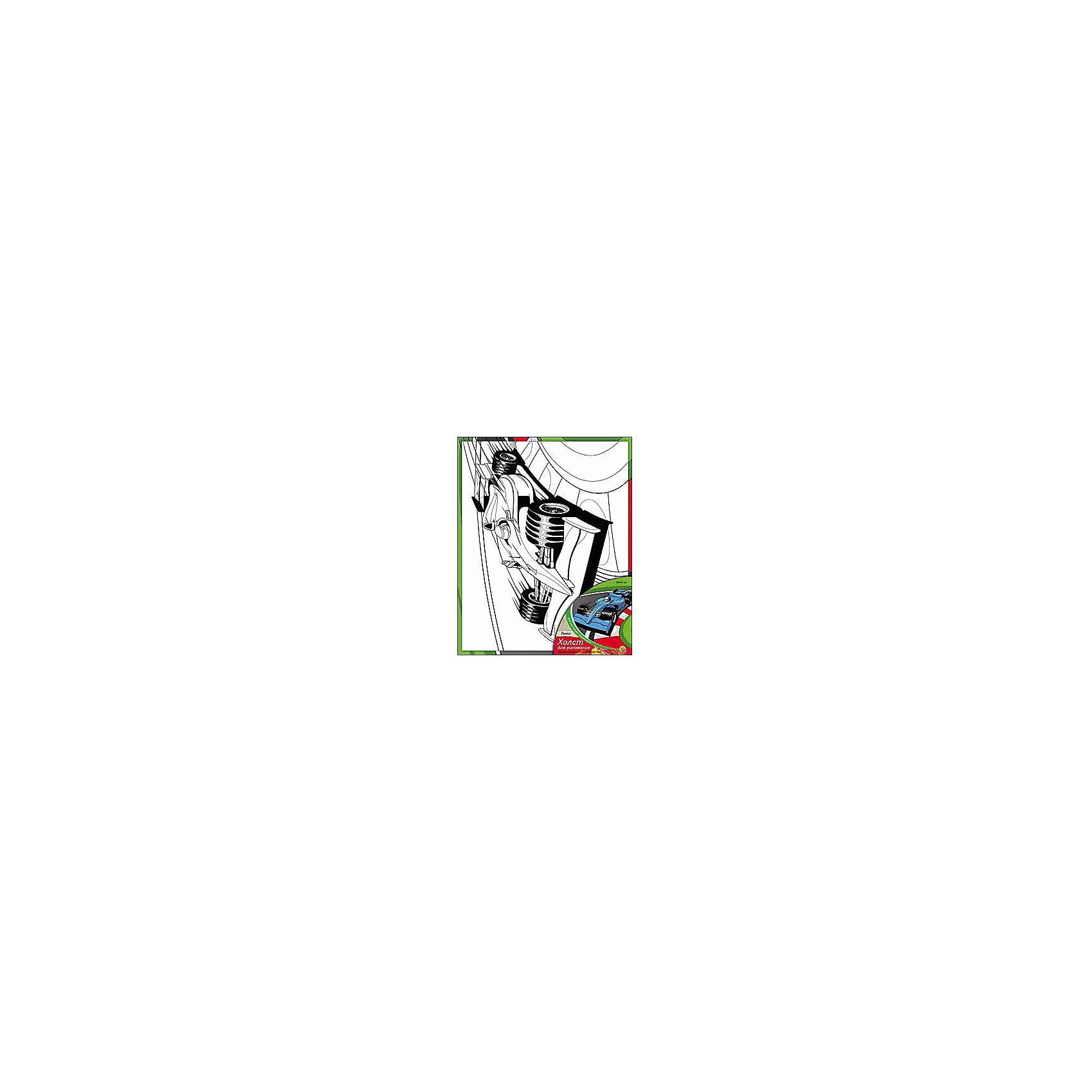 Холст с красками Гонки, 20х25 смХолст с красками Гонки - прекрасный подарок детям, которые любят рисовать. В наборе вы найдете всё, что нужно для детского творчества: холст с эскизом, яркие краски и кисточка. Готовую картинку можно подарить друзьям или украсить свою комнату!<br><br>Дополнительная информация:<br>В наборе: холст-эскиз, 7 акриловых красок, кисточка<br>Размер: 20х1,5х25 см<br>Вес: 210 грамм<br>Холст с красками Гонки можно купить в нашем интернет-магазине.<br><br>Ширина мм: 250<br>Глубина мм: 15<br>Высота мм: 200<br>Вес г: 210<br>Возраст от месяцев: 36<br>Возраст до месяцев: 120<br>Пол: Унисекс<br>Возраст: Детский<br>SKU: 4939519