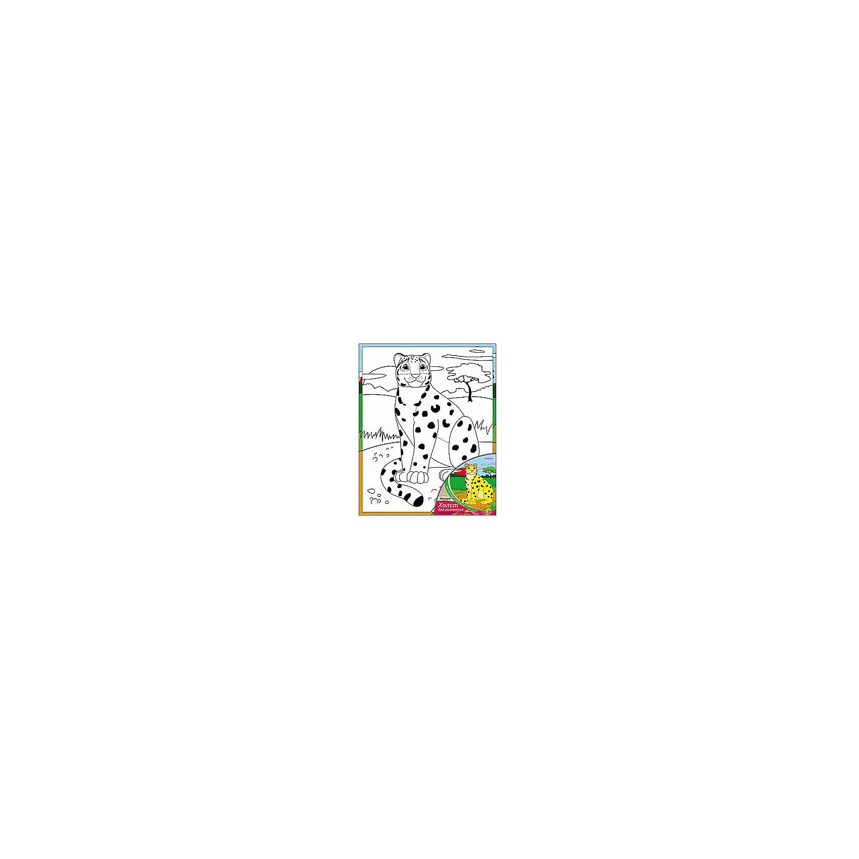 Холст с красками Леопард, 20х25 смРисование<br>Холст с красками Леопард - прекрасный подарок детям, которые любят рисовать. В наборе вы найдете всё, что нужно для детского творчества: холст с эскизом, яркие краски и кисточка. Готовую картинку можно подарить друзьям или украсить свою комнату!<br><br>Дополнительная информация:<br>В наборе: холст-эскиз, 7 акриловых красок, кисточка<br>Размер: 20х1,5х25 см<br>Вес: 210 грамм<br>Холст с красками Леопард можно купить в нашем интернет-магазине.<br><br>Ширина мм: 250<br>Глубина мм: 15<br>Высота мм: 200<br>Вес г: 210<br>Возраст от месяцев: 36<br>Возраст до месяцев: 120<br>Пол: Унисекс<br>Возраст: Детский<br>SKU: 4939520