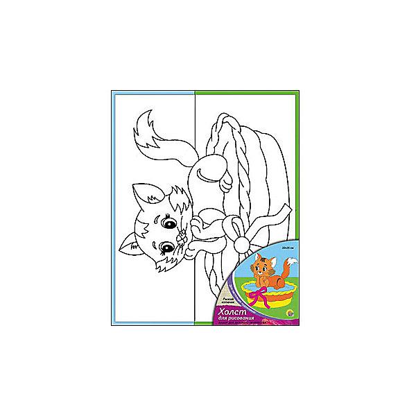 Холст с красками Рыжий котенок, 20х25 смРаскраски по номерам<br>Холст с красками Рыжий котенок - прекрасный подарок детям, которые любят рисовать. В наборе вы найдете всё, что нужно для детского творчества: холст с эскизом, яркие краски и кисточка. Готовую картинку можно подарить друзьям или украсить свою комнату!<br><br>Дополнительная информация:<br>В наборе: холст-эскиз, 7 акриловых красок, кисточка<br>Размер: 20х1,5х25 см<br>Вес: 210 грамм<br>Холст с красками Рыжий котенок можно купить в нашем интернет-магазине.<br>Ширина мм: 250; Глубина мм: 15; Высота мм: 200; Вес г: 210; Возраст от месяцев: 36; Возраст до месяцев: 120; Пол: Унисекс; Возраст: Детский; SKU: 4939521;