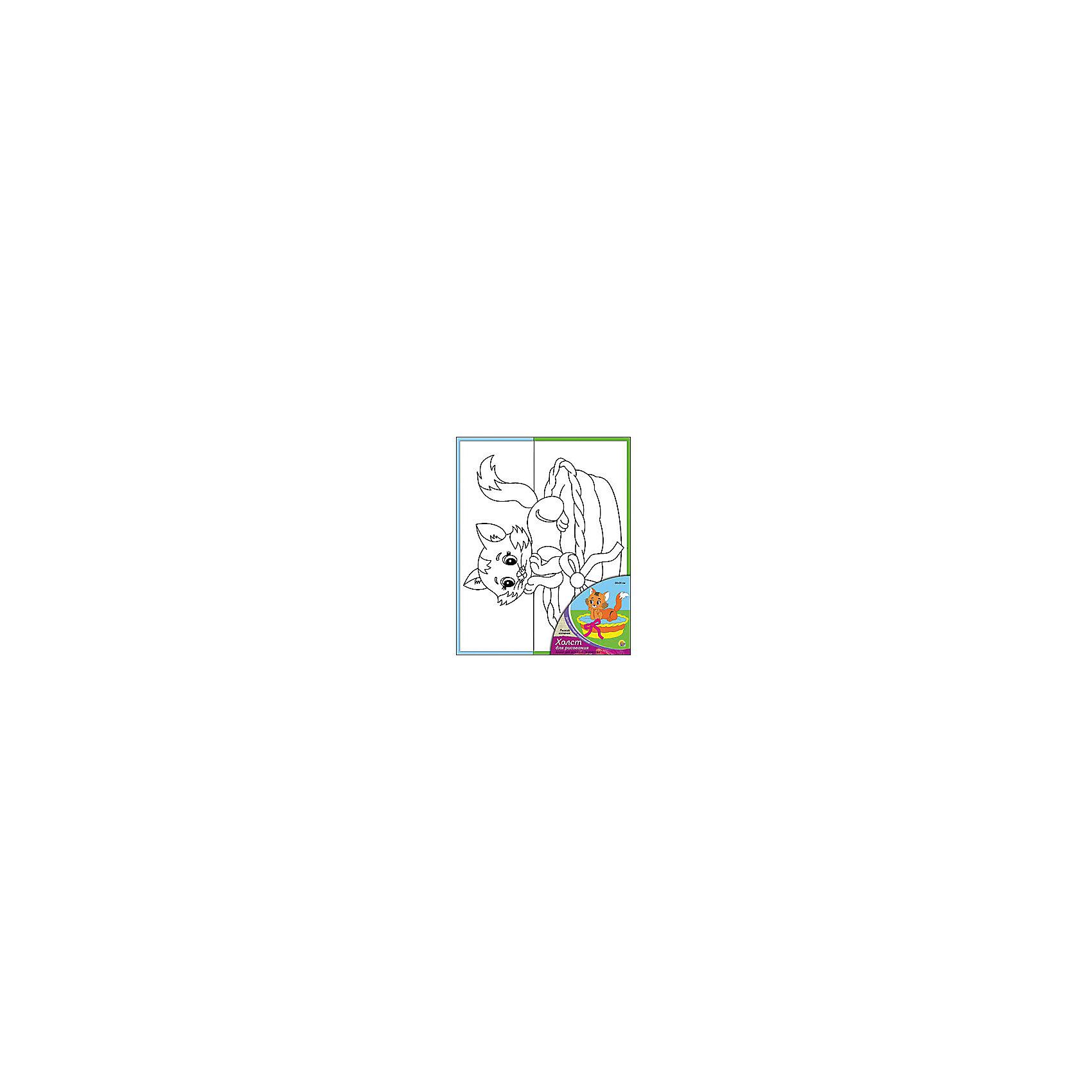 Холст с красками Рыжий котенок, 20х25 смРисование<br>Холст с красками Рыжий котенок - прекрасный подарок детям, которые любят рисовать. В наборе вы найдете всё, что нужно для детского творчества: холст с эскизом, яркие краски и кисточка. Готовую картинку можно подарить друзьям или украсить свою комнату!<br><br>Дополнительная информация:<br>В наборе: холст-эскиз, 7 акриловых красок, кисточка<br>Размер: 20х1,5х25 см<br>Вес: 210 грамм<br>Холст с красками Рыжий котенок можно купить в нашем интернет-магазине.<br><br>Ширина мм: 250<br>Глубина мм: 15<br>Высота мм: 200<br>Вес г: 210<br>Возраст от месяцев: 36<br>Возраст до месяцев: 120<br>Пол: Унисекс<br>Возраст: Детский<br>SKU: 4939521
