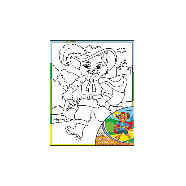 Холст с красками Чудесная сказка, 20х25 смРаскраски по номерам<br>Холст с красками Чудесная сказка - прекрасный подарок детям, которые любят рисовать. В наборе вы найдете всё, что нужно для детского творчества: холст с эскизом, яркие краски и кисточка. Готовую картинку можно подарить друзьям или украсить свою комнату!<br><br>Дополнительная информация:<br>Сказочный персонаж: Кот в Сапогах<br>В наборе: холст-эскиз, 7 акриловых красок, кисточка<br>Размер: 20х1,5х25 см<br>Вес: 210 грамм<br>Холст с красками Чудесная сказка можно купить в нашем интернет-магазине.<br>Ширина мм: 250; Глубина мм: 15; Высота мм: 200; Вес г: 210; Возраст от месяцев: 36; Возраст до месяцев: 120; Пол: Унисекс; Возраст: Детский; SKU: 4939523;