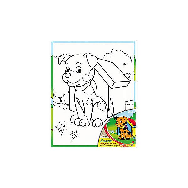 Холст с красками Щенок, 20х25 смРаскраски по номерам<br>Холст с красками Щенок - прекрасный подарок детям, которые любят рисовать. В наборе вы найдете всё, что нужно для детского творчества: холст с эскизом, яркие краски и кисточка. Готовую картинку можно подарить друзьям или украсить свою комнату!<br><br>Дополнительная информация:<br>В наборе: холст-эскиз, 7 акриловых красок, кисточка<br>Размер: 20х1,5х25 см<br>Вес: 210 грамм<br>Холст с красками Щенок можно купить в нашем интернет-магазине.<br>Ширина мм: 250; Глубина мм: 15; Высота мм: 200; Вес г: 210; Возраст от месяцев: 36; Возраст до месяцев: 120; Пол: Унисекс; Возраст: Детский; SKU: 4939524;