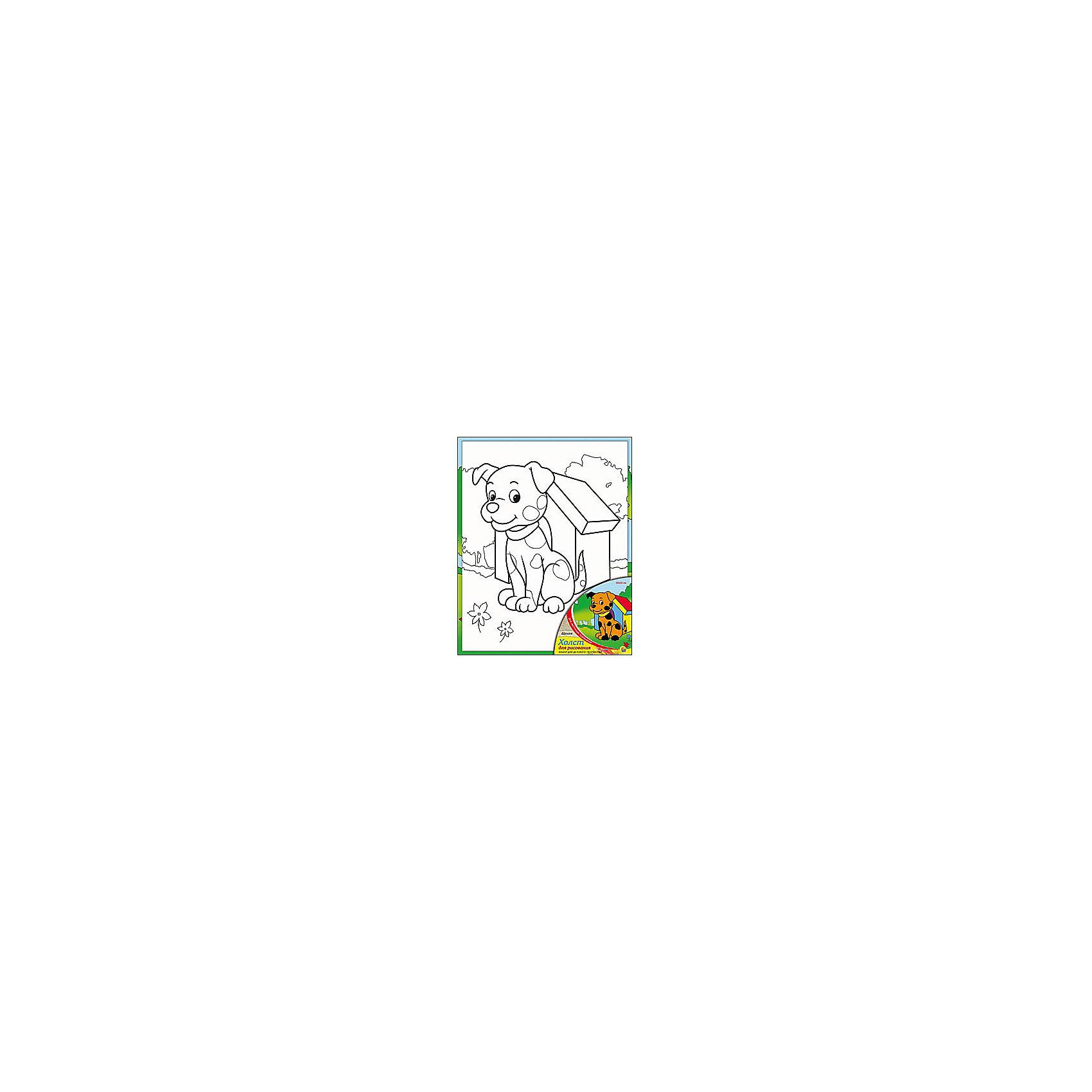 Холст с красками Щенок, 20х25 смХолст с красками Щенок - прекрасный подарок детям, которые любят рисовать. В наборе вы найдете всё, что нужно для детского творчества: холст с эскизом, яркие краски и кисточка. Готовую картинку можно подарить друзьям или украсить свою комнату!<br><br>Дополнительная информация:<br>В наборе: холст-эскиз, 7 акриловых красок, кисточка<br>Размер: 20х1,5х25 см<br>Вес: 210 грамм<br>Холст с красками Щенок можно купить в нашем интернет-магазине.<br><br>Ширина мм: 250<br>Глубина мм: 15<br>Высота мм: 200<br>Вес г: 210<br>Возраст от месяцев: 36<br>Возраст до месяцев: 120<br>Пол: Унисекс<br>Возраст: Детский<br>SKU: 4939524
