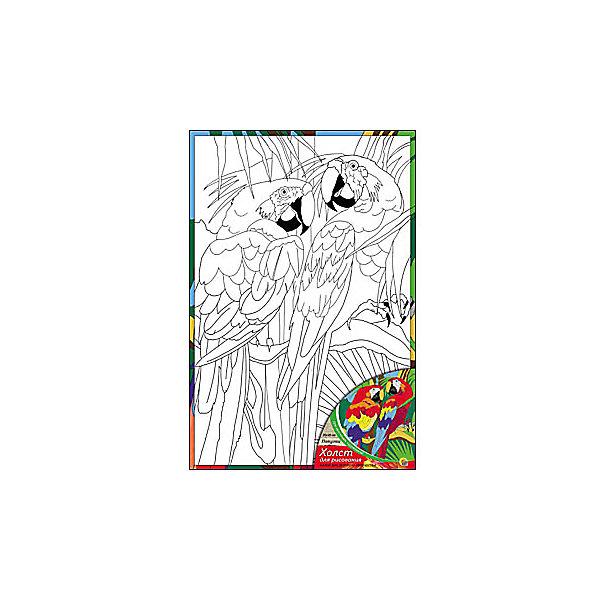 Холст с красками Попугаи, 20х30 смРаскраски по номерам<br>Ваш малыш любит рисовать? Тогда набор Попугаи обязательно порадует юного художника. Такое творчество развивает аккуратность, усидчивость и творческие навыки. Ребенок научится рисовать по холсту, и готовая яркая картинка вызовет восторг не только у него, но и у родителей, которые будут еще больше гордиться его талантами.<br><br>Дополнительная информация:<br>В наборе: холст-эскиз, 7 акриловых красок, кисточка<br>Размер: 20х1,5х30 см<br>Вес: 230 грамм<br>Холст с красками Попугаи можно купить в нашем интернет-магазине.<br><br>Ширина мм: 300<br>Глубина мм: 15<br>Высота мм: 200<br>Вес г: 230<br>Возраст от месяцев: 36<br>Возраст до месяцев: 120<br>Пол: Унисекс<br>Возраст: Детский<br>SKU: 4939531