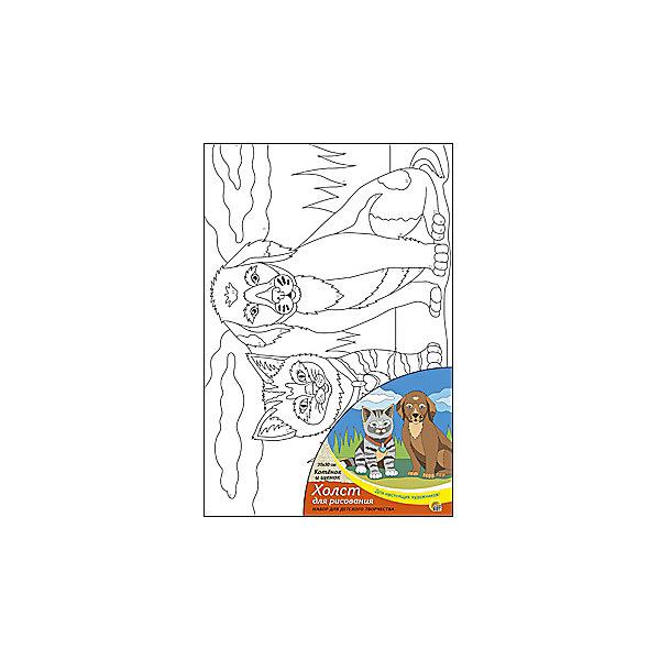 Холст с красками  по номерам Котёнок и щенок, 20х30 смРаскраски по номерам<br>С помощью холста с красками Котенок и щенок ребенок сможет создать настоящий шедевр своими руками! Для этого нужно лишь нанести краски по соответствующим номерам на холст. Рисование развивает внимательность, аккуратность и усидчивость. Отличный подарок маленьким художникам!<br><br>Дополнительная информация:<br>В наборе: холст-эскиз, 7 акриловых красок, кисточка<br>Размер: 20х1,5х30 см<br>Вес: 230 грамм<br>Холст с красками Котенок и щенок вы можете приобрести в нашем интернет-магазине.<br><br>Ширина мм: 300<br>Глубина мм: 15<br>Высота мм: 200<br>Вес г: 230<br>Возраст от месяцев: 36<br>Возраст до месяцев: 120<br>Пол: Унисекс<br>Возраст: Детский<br>SKU: 4939534