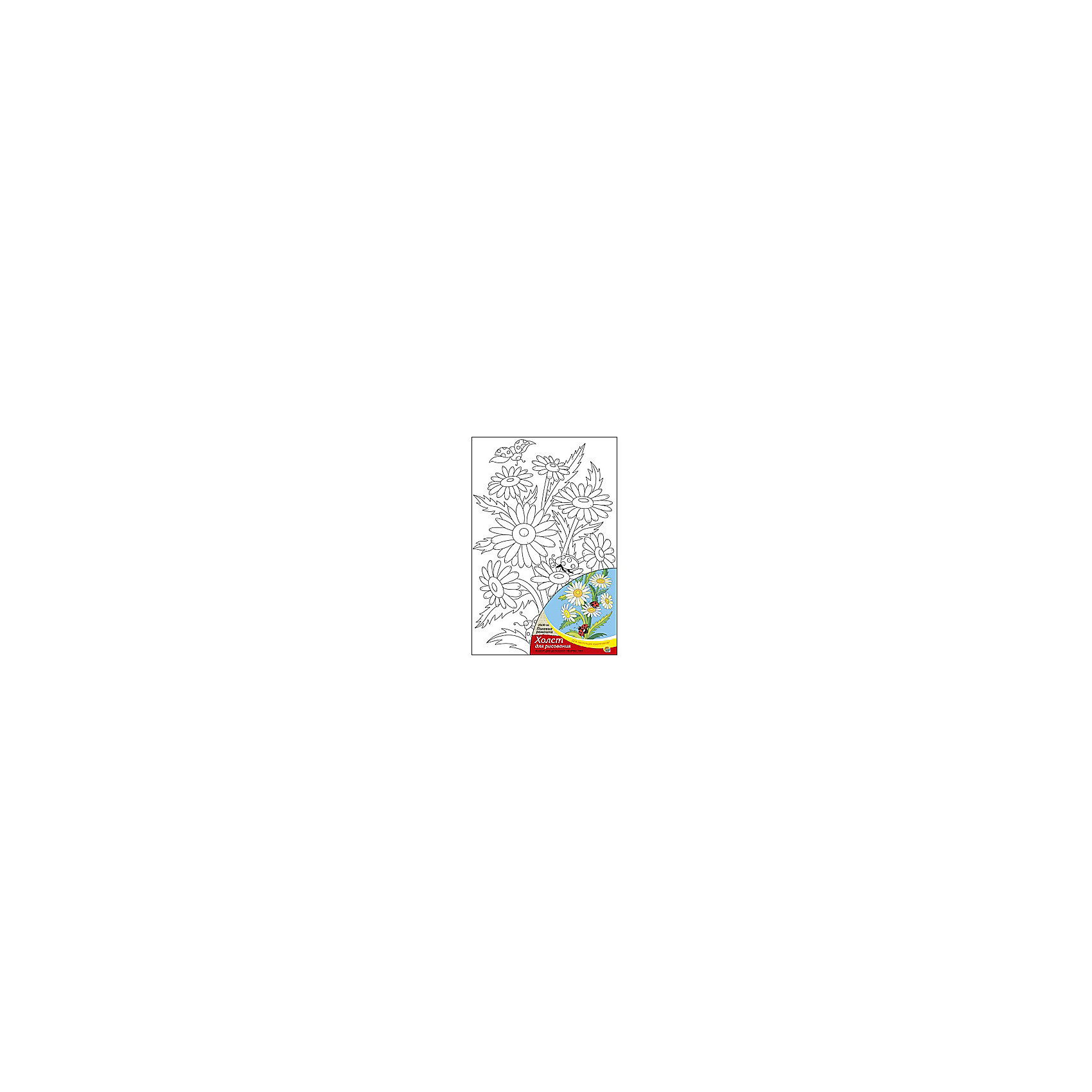 Холст с красками  по номерам Полевые ромашки, 20х30 смС помощью холста с красками Полевые ромашки ребенок сможет создать настоящий шедевр своими руками! Для этого нужно лишь нанести краски по соответствующим номерам на холст. Рисование развивает внимательность, аккуратность и усидчивость. Отличный подарок маленьким художникам!<br><br>Дополнительная информация:<br>В наборе: холст-эскиз, 7 акриловых красок, кисточка<br>Размер: 20х1,5х30 см<br>Вес: 230 грамм<br>Холст с красками Полевые ромашки вы можете приобрести в нашем интернет-магазине.<br><br>Ширина мм: 300<br>Глубина мм: 15<br>Высота мм: 200<br>Вес г: 230<br>Возраст от месяцев: 36<br>Возраст до месяцев: 120<br>Пол: Унисекс<br>Возраст: Детский<br>SKU: 4939535