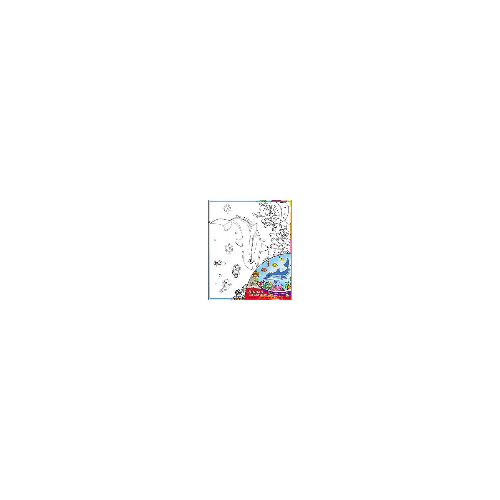 Холст с красками Подводный мир, 25х30 смРисование<br>Холст с красками Подводный мир поможет ребенку провести время с пользой и развить художественные навыки. Яркими красками он с удовольствием раскрасит эскиз на холсте и с гордостью сможет похвастаться родителям и друзьям!<br><br>Дополнительная информация:<br>В наборе: холст-эскиз, 7 акриловых красок, кисточка<br>Размер: 25х1,5х30 см<br>Вес: 250 грамм<br>Вы можете приобрести холст с красками Подводный мир в нашем интернет-магазине.<br><br>Ширина мм: 300<br>Глубина мм: 15<br>Высота мм: 250<br>Вес г: 250<br>Возраст от месяцев: 36<br>Возраст до месяцев: 120<br>Пол: Унисекс<br>Возраст: Детский<br>SKU: 4939542