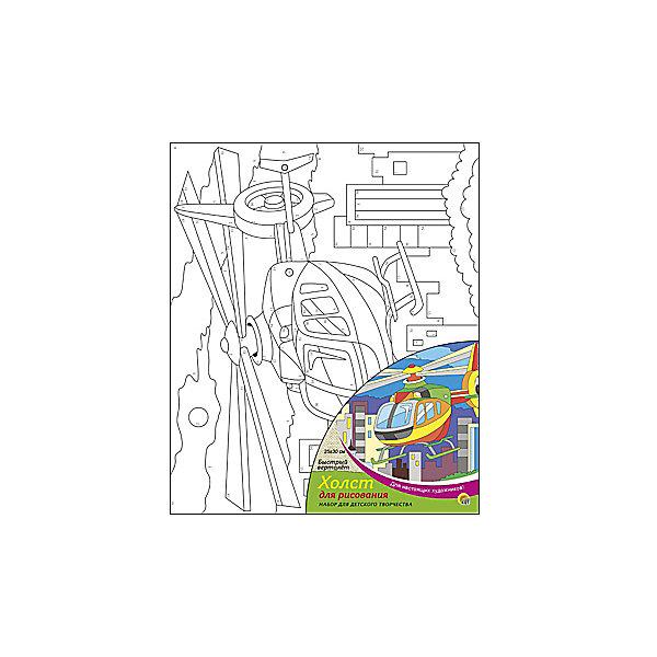 Холст с красками по номерам Быстрый вертолёт, 25х30 смРаскраски по номерам<br>Набор для творчества Быстрый вертолет поможет ребенку своими руками создать яркий, привлекающий внимание шедевр. Достаточно правильно нанести на рисунок краску, соответствующую номеру на холсте, и картинка словно оживет и будет привлекать внимание своей красотой и уникальностью. В процессе творчества ребенок будет развивать художественные навыки и внимание. Отличный выбор для творческих детей!<br><br>Дополнительная информация:<br>В комплекте: 1 холст с эскизом, 7 акриловых красок, кисточка<br>Размер: 25х1,5х30 см<br>Вес: 250 грамм<br>Вы можете купить набор для творчества Быстрый вертолет в нашем интернет-магазине.<br><br>Ширина мм: 300<br>Глубина мм: 15<br>Высота мм: 250<br>Вес г: 250<br>Возраст от месяцев: 36<br>Возраст до месяцев: 120<br>Пол: Унисекс<br>Возраст: Детский<br>SKU: 4939543