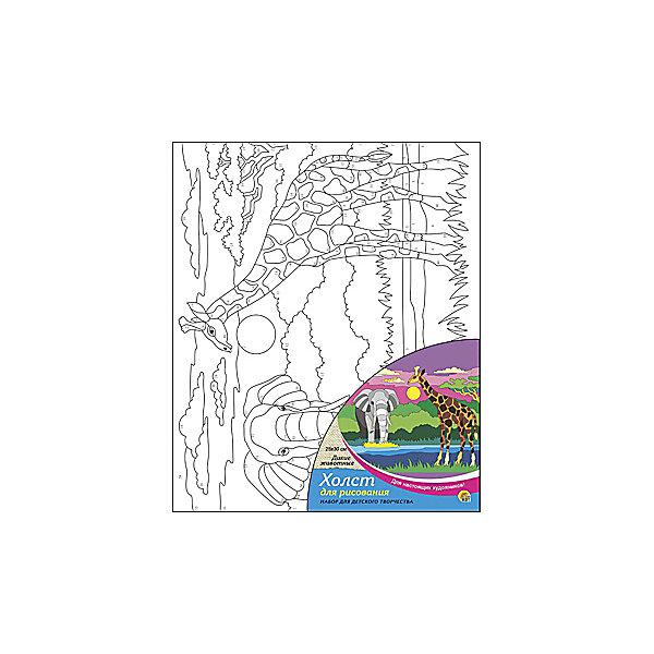 Холст с красками по номерам Дикие животные, 25х30 смКартины по номерам<br>Набор для творчества Дикие животные поможет ребенку своими руками создать яркий, привлекающий внимание шедевр. Достаточно правильно нанести на рисунок краску, соответствующую номеру на холсте, и картинка словно оживет и будет привлекать внимание своей красотой и уникальностью. В процессе творчества ребенок будет развивать художественные навыки и внимание. Отличный выбор для творческих детей!<br><br>Дополнительная информация:<br>В комплекте: 1 холст с эскизом, 7 акриловых красок, кисточка<br>Размер: 15х1,5х15 см<br>Вес: 140 грамм<br>Вы можете купить набор для творчества Дикие животные в нашем интернет-магазине.<br>Ширина мм: 300; Глубина мм: 15; Высота мм: 250; Вес г: 250; Возраст от месяцев: 36; Возраст до месяцев: 120; Пол: Унисекс; Возраст: Детский; SKU: 4939545;