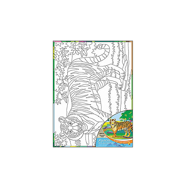 Холст с красками Большой тигр, 30х40 смРаскраски по номерам<br>Для любителей творчества прекрасно подойдет набор Большой тигр. Ребенок раскрасит нанесенный на холст эскиз яркими акриловыми красками. Такое творчество поможет развить аккуратность, усидчивость и художественные навыки. Готовую картину можно подарить друзьям или оставить для украшения своей комнаты.<br><br>Дополнительная информация:<br>В наборе: холст-эскиз, 16 акриловых красок, кисточка<br>Размер: 30х1,5х40 см<br>Вес: 370 грамм<br>Вы можете приобрести холст с красками Большой тигр в нашем интернет-магазине.<br><br>Ширина мм: 400<br>Глубина мм: 15<br>Высота мм: 300<br>Вес г: 370<br>Возраст от месяцев: 36<br>Возраст до месяцев: 120<br>Пол: Унисекс<br>Возраст: Детский<br>SKU: 4939546