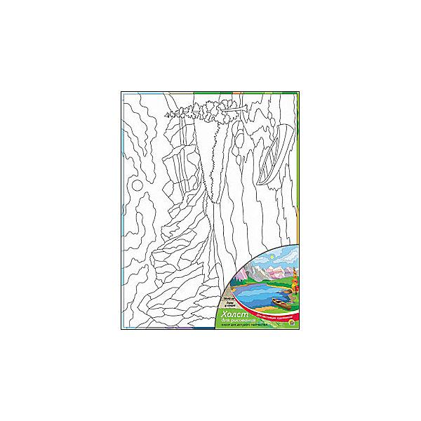 Холст с красками Горы у озера, 30х40 смРаскраски по номерам<br>Для любителей творчества прекрасно подойдет набор Горы у озера. Ребенок раскрасит нанесенный на холст эскиз яркими акриловыми красками. Такое творчество поможет развить аккуратность, усидчивость и художественные навыки. Готовую картину можно подарить друзьям или оставить для украшения своей комнаты.<br><br>Дополнительная информация:<br>В наборе: холст-эскиз, 16 акриловых красок, кисточка<br>Размер: 30х1,5х40 см<br>Вес: 370 грамм<br>Вы можете приобрести холст с красками Горы у озера в нашем интернет-магазине.<br>Ширина мм: 400; Глубина мм: 15; Высота мм: 300; Вес г: 370; Возраст от месяцев: 36; Возраст до месяцев: 120; Пол: Унисекс; Возраст: Детский; SKU: 4939547;
