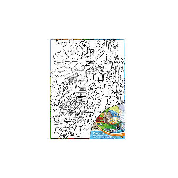 Холст с красками Домик в деревне, 30х40 смРаскраски по номерам<br>Для любителей творчества прекрасно подойдет набор Домик в деревне. Ребенок раскрасит нанесенный на холст эскиз яркими акриловыми красками. Такое творчество поможет развить аккуратность, усидчивость и художественные навыки. Готовую картину можно подарить друзьям или оставить для украшения своей комнаты.<br><br>Дополнительная информация:<br>В наборе: холст-эскиз, 16 акриловых красок, кисточка<br>Размер: 30х1,5х40 см<br>Вес: 370 грамм<br>Вы можете приобрести холст с красками Домик в деревне в нашем интернет-магазине.<br>Ширина мм: 400; Глубина мм: 15; Высота мм: 300; Вес г: 370; Возраст от месяцев: 36; Возраст до месяцев: 120; Пол: Унисекс; Возраст: Детский; SKU: 4939548;
