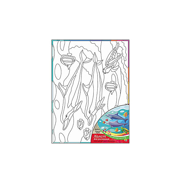 Холст с красками Морская жизнь, 30х40 смРаскраски по номерам<br>Для любителей творчества прекрасно подойдет набор Морская жизнь. Ребенок раскрасит нанесенный на холст эскиз яркими акриловыми красками. Такое творчество поможет развить аккуратность, усидчивость и художественные навыки. Готовую картину можно подарить друзьям или оставить для украшения своей комнаты.<br><br>Дополнительная информация:<br>В наборе: холст-эскиз, 16 акриловых красок, кисточка<br>Размер: 30х1,5х40 см<br>Вес: 370 грамм<br>Вы можете приобрести холст с красками Морская жизнь в нашем интернет-магазине.<br>Ширина мм: 400; Глубина мм: 15; Высота мм: 300; Вес г: 370; Возраст от месяцев: 36; Возраст до месяцев: 120; Пол: Унисекс; Возраст: Детский; SKU: 4939553;