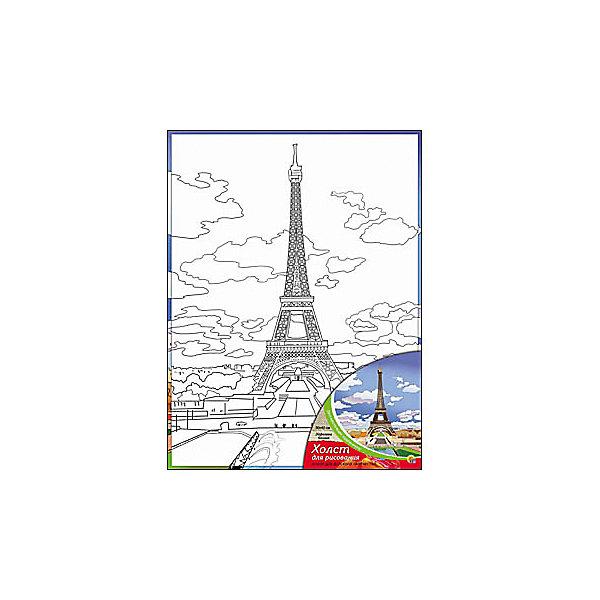 Купить Холст с красками Эйфелева башня , 30х40 см, Рыжий кот, Китай, Унисекс