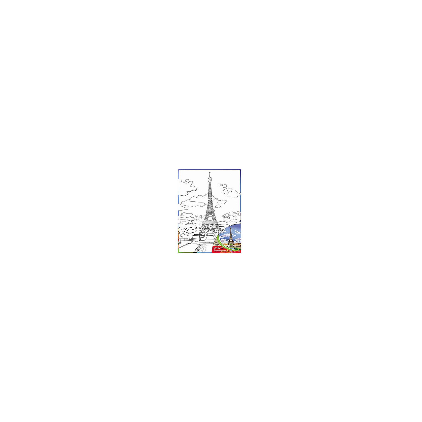 Холст с красками Эйфелева башня, 30х40 смРисование<br>Для любителей творчества прекрасно подойдет набор Эйфелева башня. Ребенок раскрасит нанесенный на холст эскиз яркими акриловыми красками. Такое творчество поможет развить аккуратность, усидчивость и художественные навыки. Готовую картину можно подарить друзьям или оставить для украшения своей комнаты.<br><br>Дополнительная информация:<br>В наборе: холст-эскиз, 16 акриловых красок, кисточка<br>Размер: 30х1,5х40 см<br>Вес: 370 грамм<br>Вы можете приобрести холст с красками Эйфелева башня в нашем интернет-магазине.<br><br>Ширина мм: 400<br>Глубина мм: 15<br>Высота мм: 300<br>Вес г: 370<br>Возраст от месяцев: 36<br>Возраст до месяцев: 120<br>Пол: Унисекс<br>Возраст: Детский<br>SKU: 4939555