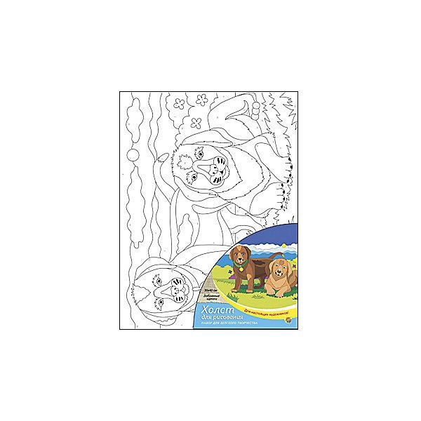 Холст с красками по номерам Забавные щенки, 30х40 смРаскраски по номерам<br>Для любителей творчества прекрасно подойдет набор Забавные щенки. Ребенок раскрасит нанесенный на холст эскиз яркими акриловыми красками по соответствующим номерам. Такое творчество поможет развить аккуратность, усидчивость, память и художественные навыки. Готовую картину можно подарить друзьям или оставить для украшения своей комнаты.<br><br>Дополнительная информация:<br>В наборе: холст-эскиз, 16 акриловых красок, кисточка<br>Размер: 30х1,5х40 см<br>Вес: 370 грамм<br>Вы можете приобрести холст с красками Забавные щенки в нашем интернет-магазине.<br><br>Ширина мм: 400<br>Глубина мм: 15<br>Высота мм: 300<br>Вес г: 370<br>Возраст от месяцев: 36<br>Возраст до месяцев: 120<br>Пол: Унисекс<br>Возраст: Детский<br>SKU: 4939556