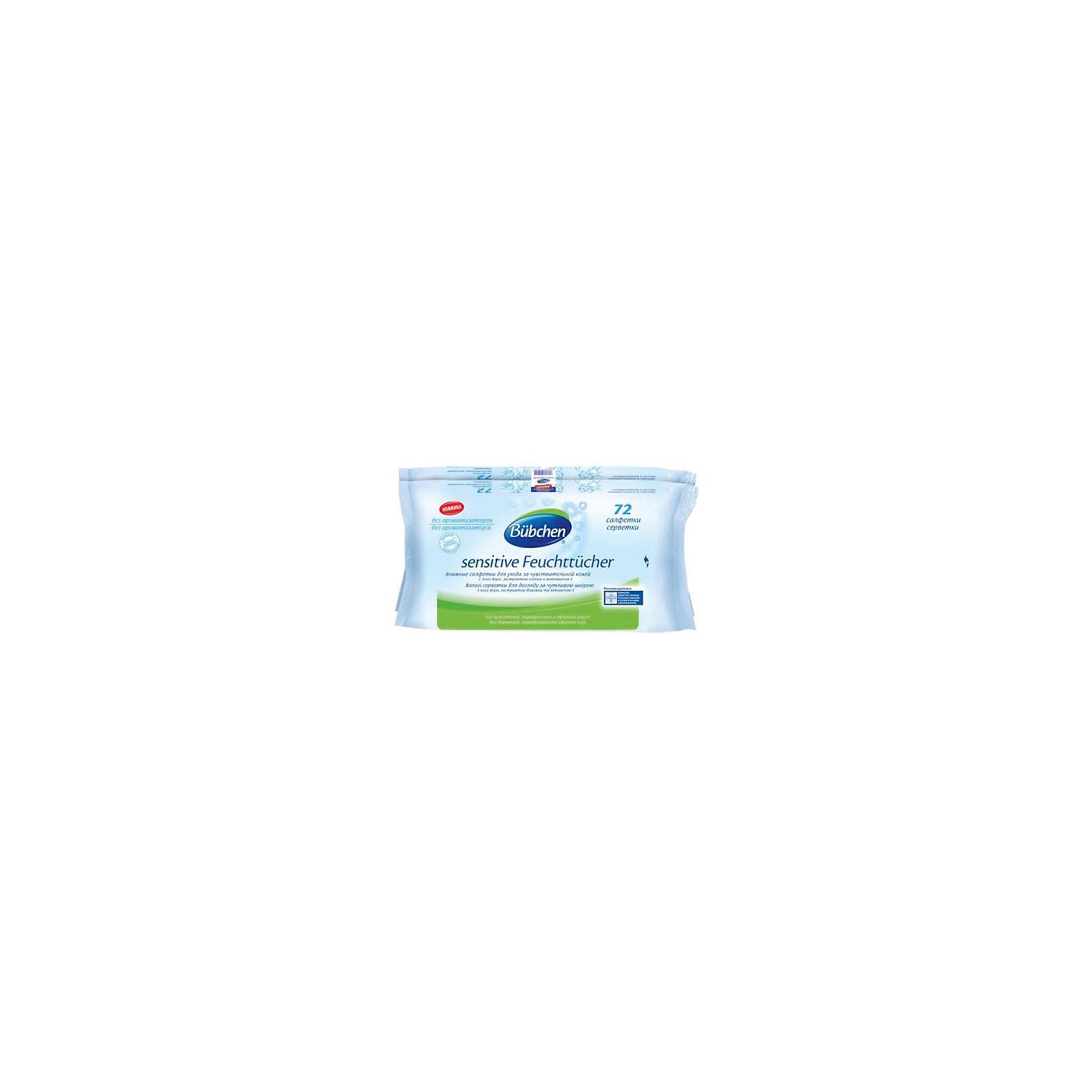 Bubchen Влажные салфетки для чувствительной кожи, BUBCHEN, 72 шт. электрическая плита лысьва эп 301 wh
