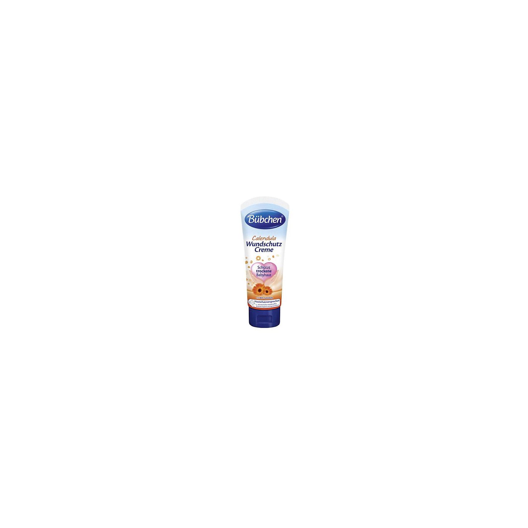 Специальный защитный крем Календула, BUBCHEN, 75 мл.Косметика для младенцев<br>Специальный защитный крем Календула, BUBCHEN, 75 мл.– это то, что вы искали для своего малыша. Этот крем в классической укаповке-тюбике подходит для усранения покраснений в области подгузника. Благодаря экстракту календулы крем оказывает противовоспалительное и антибактериальное воздействие, а натуральные природные масла и пантенол увлажняют, восстанавливают и успокаивают кожу. Способ применения: нанесите небольшое количество на чистую сухую кожу малыша легкими массирующими движениями. <br>Дополнительная информация:<br>- Без красителей<br>- Без консервантов<br>- Подходит для ежедневного ухода<br>- Размер: 50 * 100 * 50 мм<br><br>Специальный защитный крем Календула, BUBCHEN, 75 мл. можно купить в нашем интернет-магазине.<br><br>Подробнее:<br>• Для детей в возрасте: от 0 лет<br>• Номер товара: 4940220<br>Страна производитель: Германия<br><br>Ширина мм: 50<br>Глубина мм: 100<br>Высота мм: 50<br>Вес г: 80<br>Возраст от месяцев: -2147483648<br>Возраст до месяцев: 2147483647<br>Пол: Унисекс<br>Возраст: Детский<br>SKU: 4940220