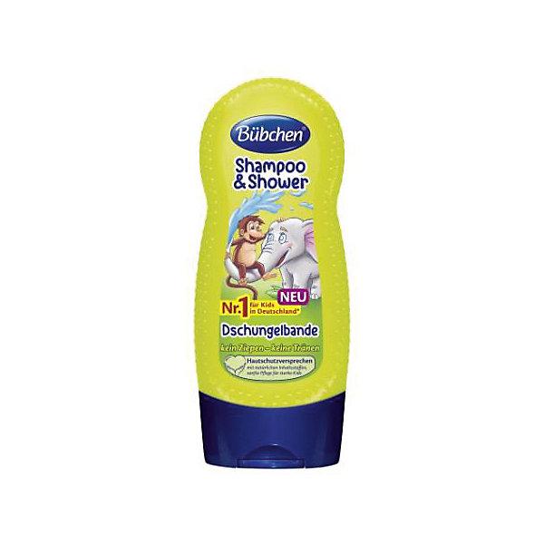 Шампунь для мытья волос и тела Джунгли зовут, BUBCHEN, 230 мл.Детские шампуни<br>Шампунь для мытья волос и тела Джунгли зовут, BUBCHEN, 230 мл.– это то, что вы искали для своего малыша. Этот шампунь обеспечивает нежное очищение, защиту и увлажнение сразу во время купания. Совмещает в себе шампунь для волос и гель для душа. Шампунь обладает приятным свежим запахом и благодаря натуральным компонентам обеспечивает увлажнение и питание кожи и волос. После использования шампуня волосы становятся послушными и легко расчесываются. Способ применения: нанесите небольшое количество шампуня на губку или руку и затем на влажную кожу и влажные волосы. Легко помассируйте и затем смойте теплой водой пену. Также можно добавить несколько капель шампуня в ванну. <br><br>Дополнительная информация:<br>- PH-нейтральный для кожи<br>- Не раздражает глаза<br>- С провитамином В5<br>- Подходит для ежедневного ухода<br>- Размер: 50 * 100 * 50 мм<br><br>Шампунь для мытья волос и тела Джунгли зовут, BUBCHEN, 230 мл. можно купить в нашем интернет-магазине.<br><br>Подробнее:<br>• Для детей в возрасте: от 3 до 10 лет<br>• Номер товара: 4940221<br>Страна производитель: Германия<br>Ширина мм: 50; Глубина мм: 100; Высота мм: 50; Вес г: 299; Возраст от месяцев: 36; Возраст до месяцев: 2147483647; Пол: Унисекс; Возраст: Детский; SKU: 4940222;