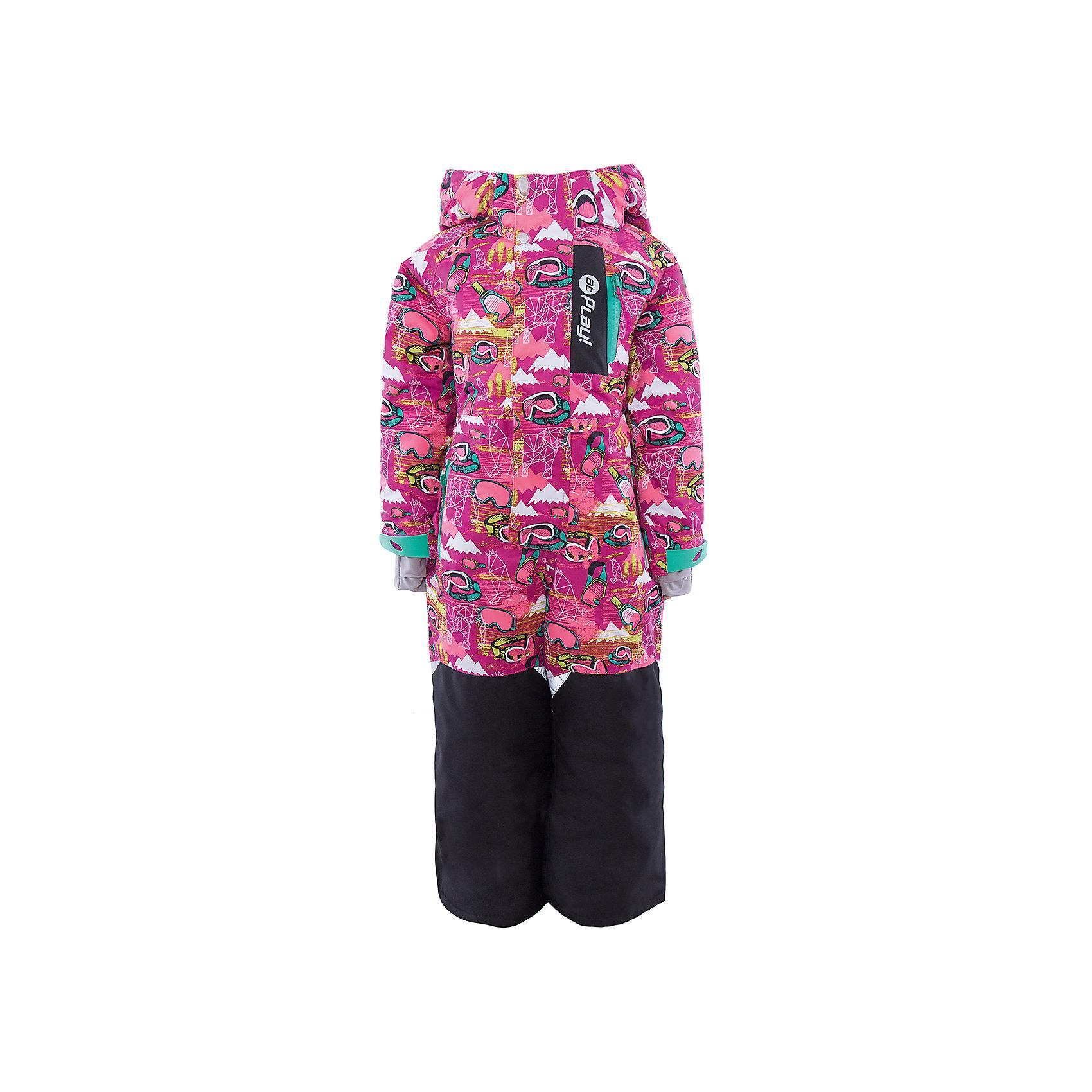 Комбинезон для девочки atPlay!Верхняя одежда<br>В сезон холодов необходимо особенно тщательно подходить к подбору одежды для ребенка. Чтобы обеспечить ему тепло, сухость и комфорт, можно выбрать этот комбинезон, сшитый из мембранного материала.<br>Он позволяет коже дышать, помогает выводить лишнюю влагу, при этом не позволяет ребенку замерзнуть или промокнуть. Выглядит при этом модель очень симпатично! Изделие выполнено очень качественно. Фурнитура для него подбиралась с учетом особенностей детского организма.<br><br>Дополнительная информация:<br><br>цвет: розовый;<br>материал: полиэстер, фурнитура YKK, водо- и грязеотталкивающее покрытие Teflon;<br>утеплитель: Thinsulate 150 г;<br>температурный режим: от -20°С до +5° С;<br>мягкие элементы на капюшоне и воротнике;<br>паропроницаемость: 10000 г / м.куб. / 24 ч;<br>водонепроницаемость: 10000 мм / 24 ч;<br>планка от ветра (двойная);<br>карманы застегиваются на молнию;<br>детали, отражающие свет.<br><br>Комбинезон для девочки от бренда atPlay! можно приобрести в нашем интернет-магазине.<br><br>Ширина мм: 356<br>Глубина мм: 10<br>Высота мм: 245<br>Вес г: 519<br>Цвет: розовый<br>Возраст от месяцев: 36<br>Возраст до месяцев: 48<br>Пол: Женский<br>Возраст: Детский<br>Размер: 104,110,116,122,128<br>SKU: 4940476