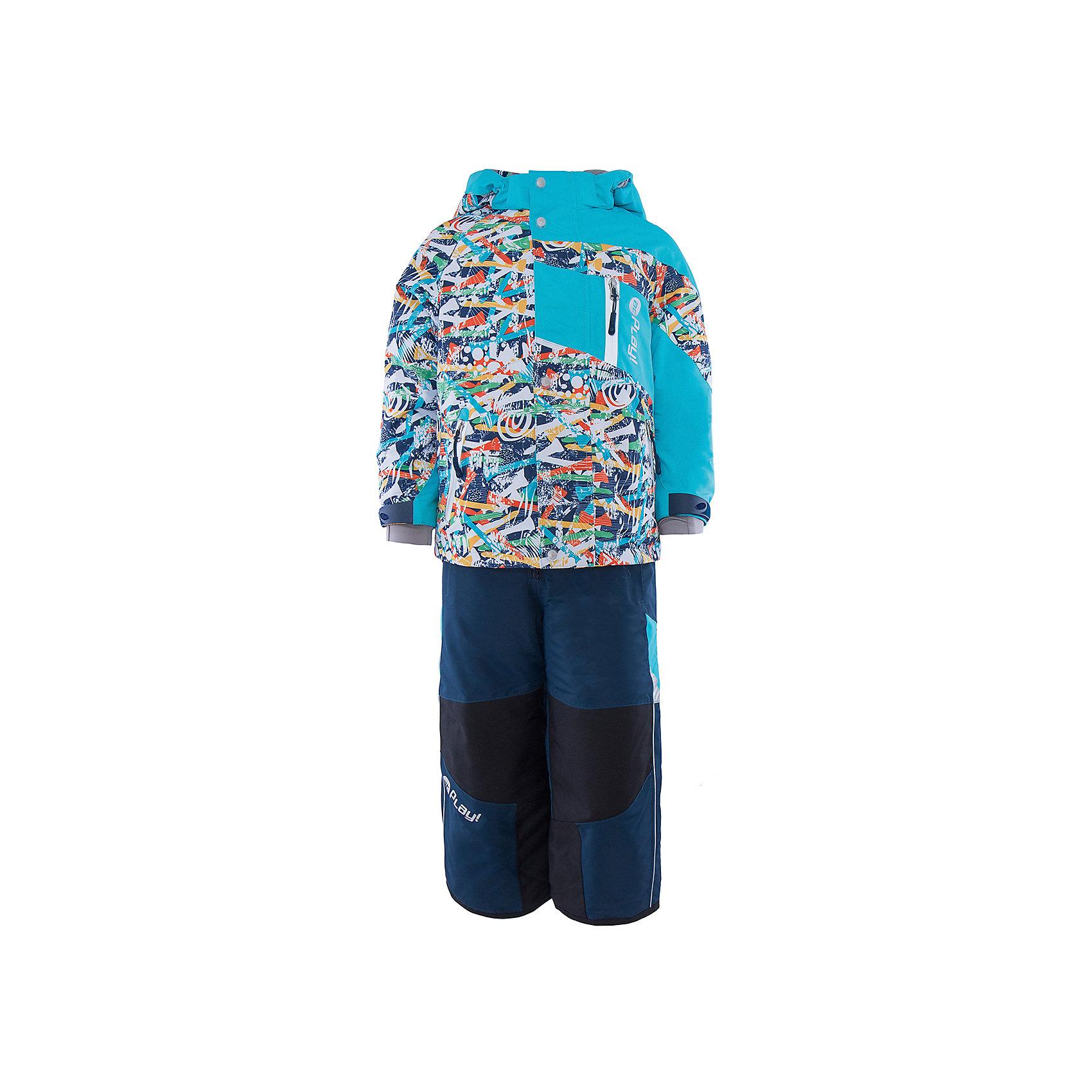 Комплект: куртка и полукомбинезон для мальчика atPlay!Верхняя одежда<br>В холода необходимо особенно тщательно подходить к подбору одежды для ребенка. Чтобы обеспечить ему тепло, сухость и комфорт, можно выбрать этот костюм, сшитый из мембранного материала.<br>Он позволяет коже дышать, помогает выводить лишнюю влагу, при этом не позволяет ребенку замерзнуть или промокнуть. Выглядит при этом модель очень симпатично! Изделие выполнено очень качественно. Фурнитура для него подбиралась с учетом особенностей детского организма. В комплекте идет курточка и полукомбинезон.<br><br><br>Дополнительная информация:<br><br>цвет: голубой;<br>материал: полиэстер, фурнитура YKK, водо- и грязеотталкивающее покрытие Teflon, нижний комбинезон - флис;<br>утеплитель: Thinsulate 150 г;<br>температурный режим: от -25° С до +5° С;<br>мягкие элементы на капюшоне и воротнике;<br>паропроницаемость: 10000 г / м.куб. / 24 ч;<br>водонепроницаемость: 10000 мм / 24 ч;<br>швы проклеены;<br>капюшон регулируется.<br><br>Костюм для мальчика от бренда atPlay! можно приобрести в нашем интернет-магазине.<br><br>Ширина мм: 356<br>Глубина мм: 10<br>Высота мм: 245<br>Вес г: 519<br>Цвет: голубой<br>Возраст от месяцев: 48<br>Возраст до месяцев: 60<br>Пол: Мужской<br>Возраст: Детский<br>Размер: 110,128,116,104,116,122<br>SKU: 4940505