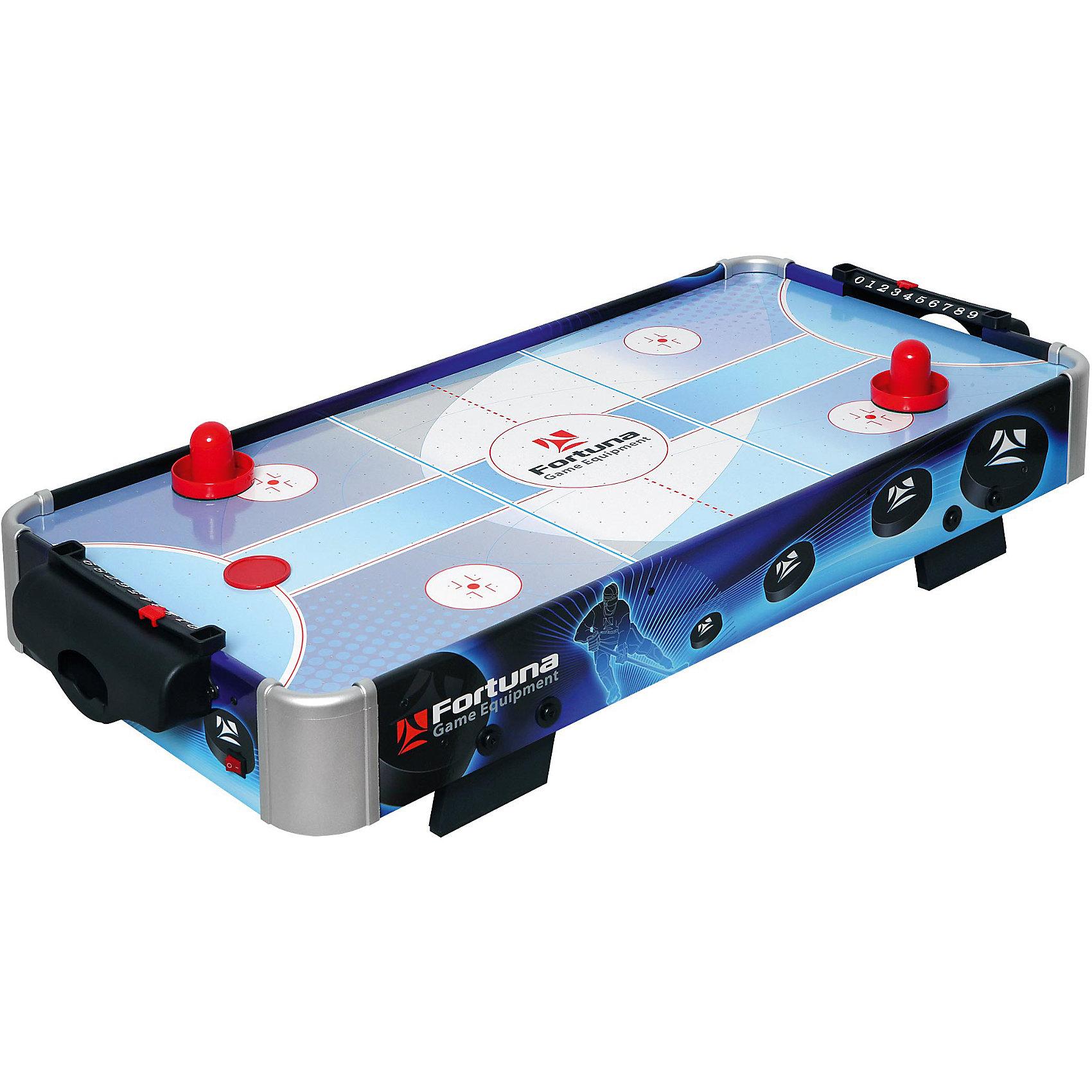Настольный аэрохоккей HR-31 Blue Ice Hybrid, 86х43х15 см, Fortuna<br><br>Ширина мм: 490<br>Глубина мм: 930<br>Высота мм: 150<br>Вес г: 8500<br>Возраст от месяцев: 36<br>Возраст до месяцев: 2147483647<br>Пол: Унисекс<br>Возраст: Детский<br>SKU: 4940651