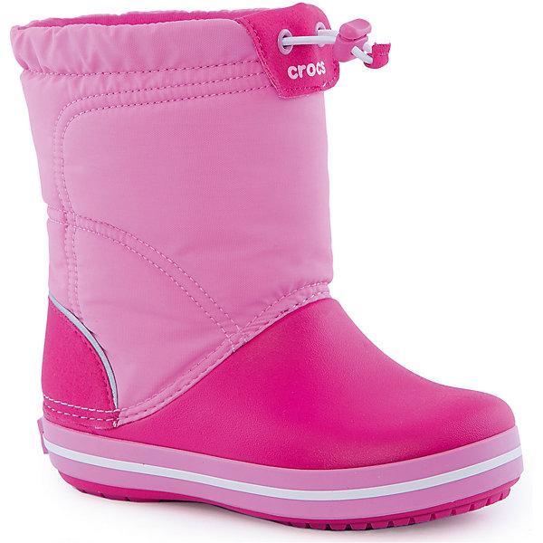 Сапоги Kids' Crocband LodgePoint Boot CrocsРезиновые сапоги<br>Характеристики товара:<br><br>• цвет: розовый<br>• материал: верх - текстиль, низ -100% полимер Croslite™<br>• материал подкладки: текстиль<br>• непромокаемая носочная часть<br>• температурный режим: от -15° до +10° С<br>• легко очищаются<br>• антискользящая подошва<br>• шнурок со стоппером<br>• толстая устойчивая подошва<br>• страна бренда: США<br>• страна изготовитель: Китай<br><br>Сапоги могут быть и стильными, и теплыми! Для детской обуви крайне важно, чтобы она была удобной. Такие сапоги обеспечивают детям необходимый комфорт, а теплая подкладка создает особый микроклимат. Сапоги легко надеваются и снимаются, отлично сидят на ноге. Материал, из которого они сделаны, не дает размножаться бактериям, поэтому такая обувь препятствует образованию неприятного запаха и появлению болезней стоп. Данная модель особенно понравится детям - ведь в них можно бегать по лужам!<br>Обувь от американского бренда Crocs в данный момент завоевала широкую популярность во всем мире, и это не удивительно - ведь она невероятно удобна. Её носят врачи, спортсмены, звёзды шоу-бизнеса, люди, которым много времени приходится бывать на ногах - они понимают, как важна комфортная обувь. Продукция Crocs - это качественные товары, созданные с применением новейших технологий. Обувь отличается стильным дизайном и продуманной конструкцией. Изделие производится из качественных и проверенных материалов, которые безопасны для детей.<br><br>Сапоги для девочки от торговой марки Crocs можно купить в нашем интернет-магазине.<br><br>Ширина мм: 237<br>Глубина мм: 180<br>Высота мм: 152<br>Вес г: 438<br>Цвет: розовый<br>Возраст от месяцев: 72<br>Возраст до месяцев: 84<br>Пол: Женский<br>Возраст: Детский<br>Размер: 30,29,27,28,34/35,33/34,31/32,34,33,31,26,25,24,23<br>SKU: 4940708