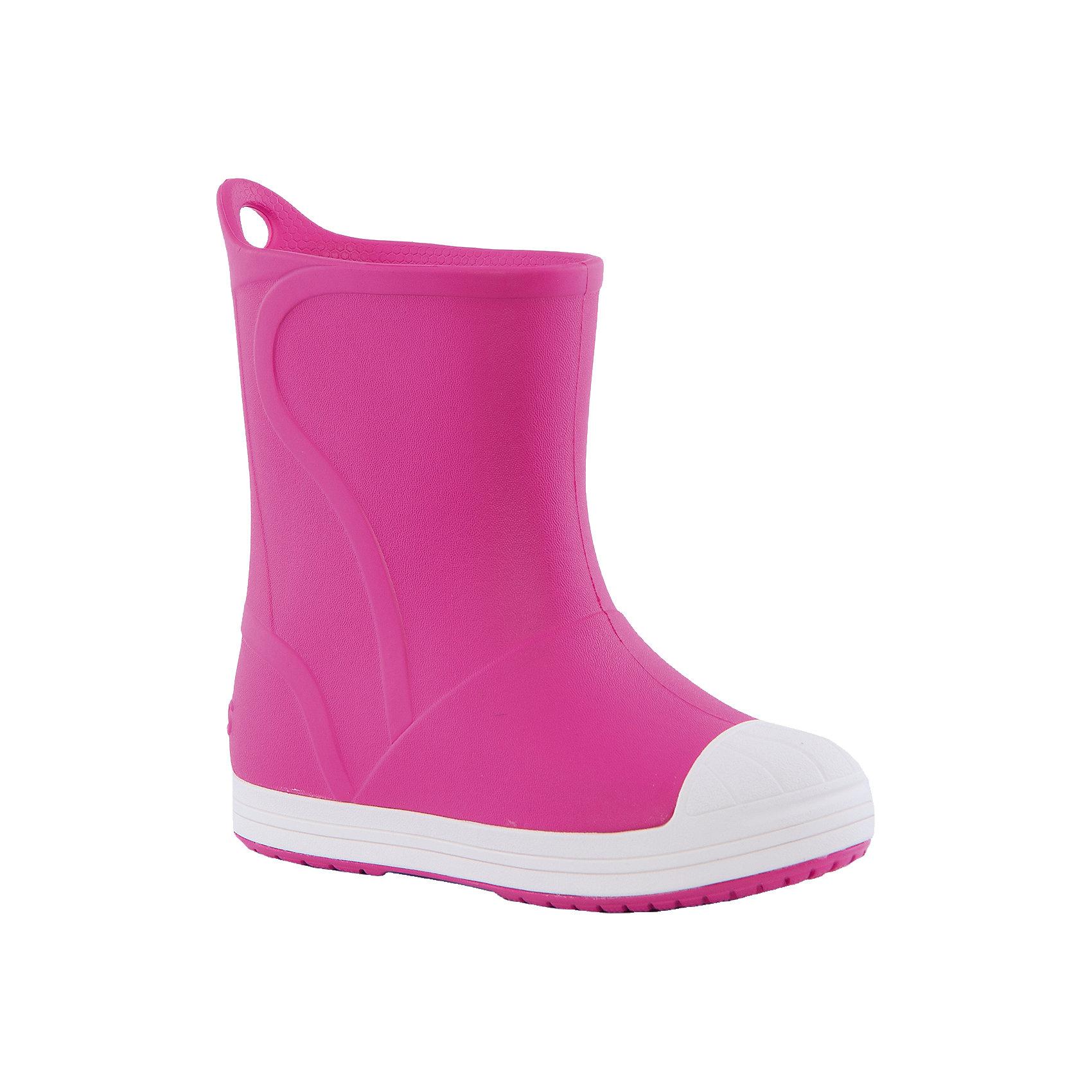 Резиновые сапоги Bump It Boot для девочки CrocsРезиновые сапоги<br>Характеристики товара:<br><br>• цвет: розовый<br>• материал: 100% полимер Croslite™<br>• непромокаемые<br>• температурный режим: от 0° до +20° С<br>• легко очищаются<br>• антискользящая подошва<br>• язычок для удобного надевания<br>• толстая устойчивая подошва<br>• страна бренда: США<br>• страна изготовитель: Китай<br><br>Сапоги могут быть и стильными, и непромокаемыми! Для детской обуви крайне важно, чтобы она была удобной. Такие сапоги обеспечивают детям необходимый комфорт, а надежный материал не пропускает внутрь воду. Сапоги легко надеваются и снимаются, отлично сидят на ноге. Материал, из которого они сделаны, не дает размножаться бактериям, поэтому такая обувь препятствует образованию неприятного запаха и появлению болезней стоп. Данная модель особенно понравится детям - ведь в них можно бегать по лужам!<br>Обувь от американского бренда Crocs в данный момент завоевала широкую популярность во всем мире, и это не удивительно - ведь она невероятно удобна. Её носят врачи, спортсмены, звёзды шоу-бизнеса, люди, которым много времени приходится бывать на ногах - они понимают, как важна комфортная обувь. Продукция Crocs - это качественные товары, созданные с применением новейших технологий. Обувь отличается стильным дизайном и продуманной конструкцией. Изделие производится из качественных и проверенных материалов, которые безопасны для детей.<br><br>Резиновые сапоги Kids' Crocs Bump It Rain Boot Crocs от торговой марки Crocs можно купить в нашем интернет-магазине.<br><br>Ширина мм: 237<br>Глубина мм: 180<br>Высота мм: 152<br>Вес г: 438<br>Цвет: розовый<br>Возраст от месяцев: 132<br>Возраст до месяцев: 144<br>Пол: Женский<br>Возраст: Детский<br>Размер: 34/35,27,28,29,30,23,24,25,26,31,33,34,31/32,33/34<br>SKU: 4940769