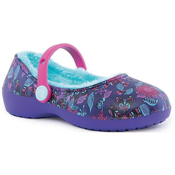 Купить со скидкой Сабо Karin Graphic Lined Clog для девочки Crocs