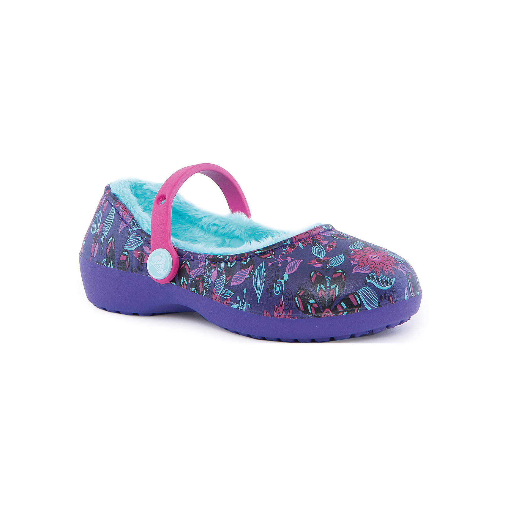 Сабо Karin Graphic Lined Clog для девочки Crocs