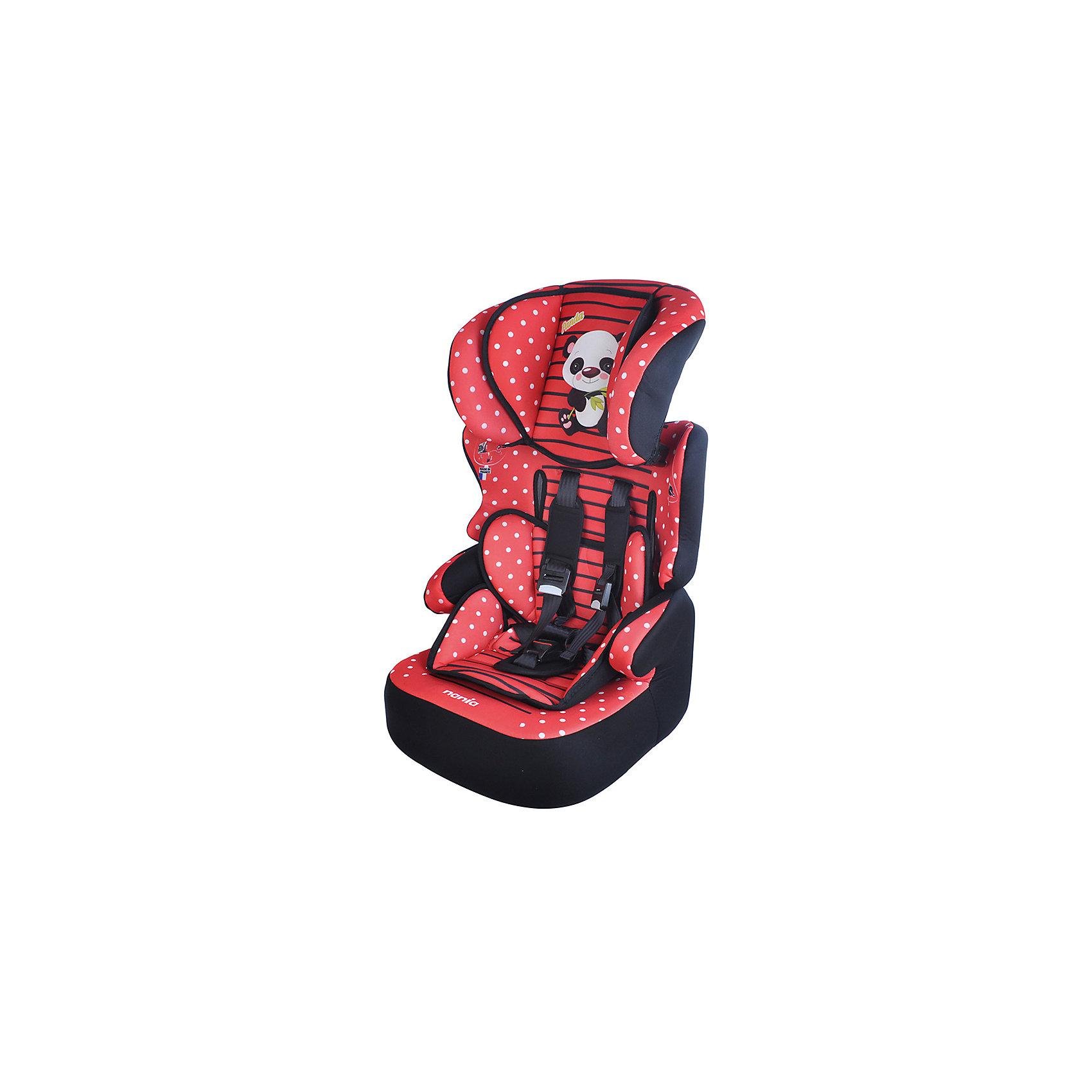 Автокресло Beline SP, 9-36 кг., Nania, panda redАвтокресло Beline SP, 9-36 кг., Nania, panda - это комфортное и безопасное автокресло для детей от 8 месяцев до 12 лет.<br>Автокресло Beline SP, Nania (Нания) сочетает два кресла в одном. Оно предназначено для детей весом от 9 до 36 кг. (группа 1-2-3). Детское автокресло состоит из двух частей: сидение и съемная спинка. Благодаря регулируемой высоте подголовника (6 позиций) кресло растет вместе с ребенком. Анатомически правильно сформированное сидение с мягкой подкладкой, мягкий подголовник закругленной формы, удобные подлокотники обеспечивают комфорт маленького пассажира даже во время длительных путешествий. Автокресло Beline SP было разработано согласно самым жестким требованиям безопасности. Система боковой защиты SP – Side Protection убережёт ребёнка от серьезных травм во время бокового столкновения. Для надежной фиксации ребенка имеется регулируемый 5-точечный ремень безопасности с плечевыми накладками. Когда ребенок подрастет, спинку автокресла можно отстегнуть и использовать только бустер. Вы без труда закрепите кресло в салоне Вашего автомобиля с помощью штатных ремней безопасности. Если ребенок весит от 9 до 18 кг, нужно использовать фиксирующий зажим ремня безопасности, который прикреплен шнурком к спинке автокресла. Автокресло устанавливается по ходу движения автомобиля. Приятной особенностью этого автокресла является его яркий интересный дизайн – принт в виде пятнистой окраски и изображение милого маленького леопарда на подголовнике. Все тканевые части легко снимаются и стираются, что позволит креслу выглядеть прекрасно долгие годы. Соответствует Европейскому Стандарту ЕСЕ R44/04.<br><br>Дополнительная информация:<br><br>- Группа 1-2-3 (9-36 кг), от 8 месяцев до 12 лет<br>- Размер: 45 х 45 х 72-88 см.<br>- Высота спинки: 64-75 см.<br>- Размер сиденья: 34 х 30 см.<br>- Вес: 4,7 кг.<br>- Материал: ударопрочный пластик, полиэстер<br>- Стирка покрытия автокресла при температуре 30 C<br><br>Автокресло Beline SP,