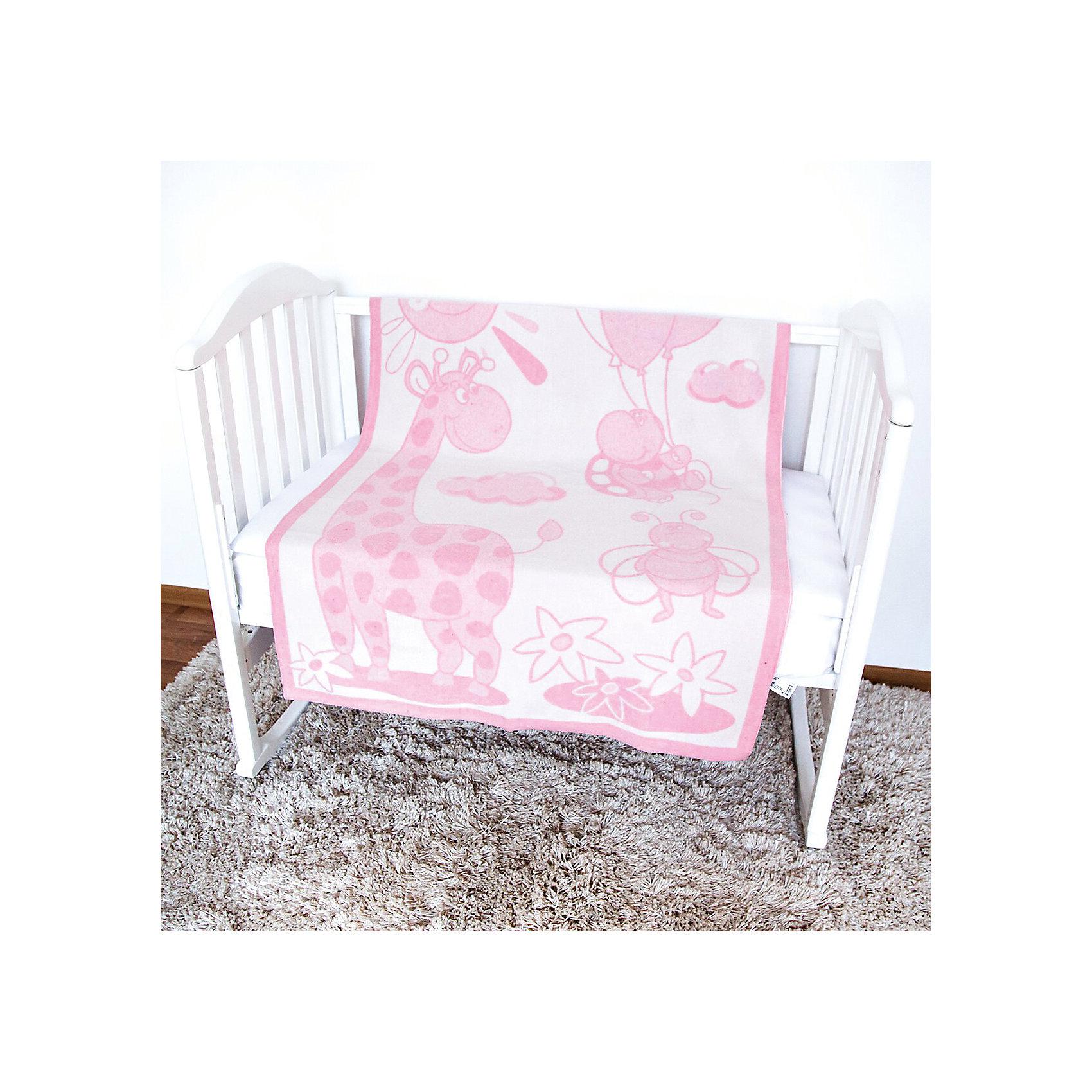 Одеяло байковое Жираф, 100х140, Baby Nice, розовыйОдеяла, пледы<br>Постельные принадлежности для детей должны быть качественными и безопасными. Это одеяло разработано специально для малышей, оно обеспечивает комфорт на всю ночь. Одеяло украшено симпатичным принтом.<br>Одеяло сшито из натурального дышащего хлопка, приятного на ощупь. Он не вызывает аллергии, что особенно важно для малышей. Оно обеспечит хорошую терморегуляцию, а значит - крепкий сон. Одеяло сделано из высококачественных материалов, безопасных для ребенка.<br><br>Дополнительная информация:<br><br>цвет: розовый;<br>материал: хлопок, жаккард;<br>принт;<br>размер: 100 х 140 см.<br><br>Одеяло байковое Жираф, 100х140 от компании Baby Nice можно купить в нашем магазине.<br><br>Ширина мм: 230<br>Глубина мм: 250<br>Высота мм: 40<br>Вес г: 500<br>Возраст от месяцев: 0<br>Возраст до месяцев: 36<br>Пол: Унисекс<br>Возраст: Детский<br>SKU: 4941752
