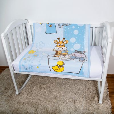 Одеяло байковое Купание, 85х115 2-сторон., Baby Nice, голубой