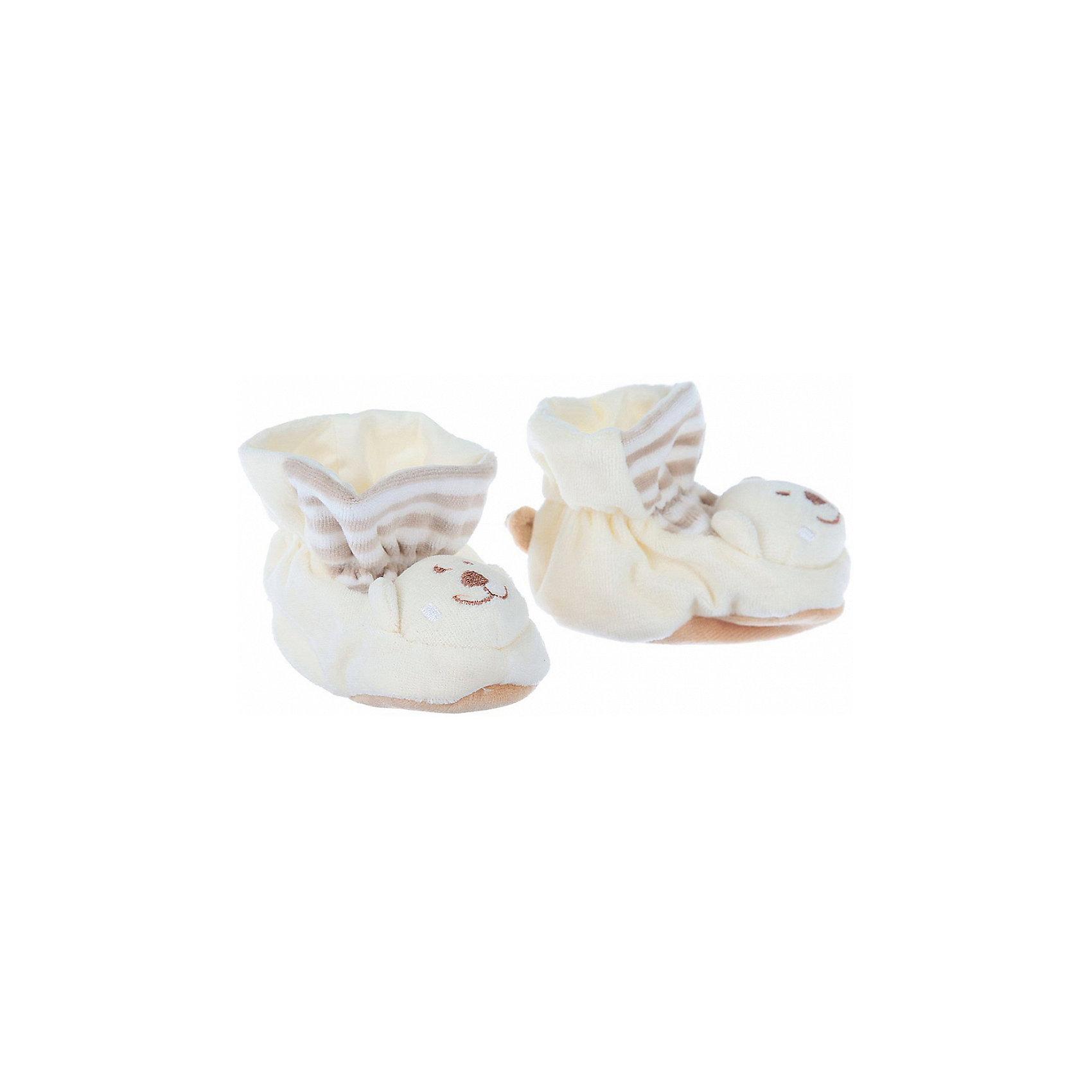 Пинетки с аппликацией Мишка, Baby Nice, бежевыйОдежда, обувь и аксессуары для детей должны быть качественными и безопасными. Эти пинетки обеспечат ножкам малыша комфорт и тепло. Они украшены симпатичной мордочкой животного.<br>Пинетки сшиты из натуральной дышащей хлопчатобумажной ткани, приятной на ощупь. Она не вызывает аллергии, что особенно важно для малышей. Также материал обеспечит хорошую терморегуляцию. Ткань очень мягкая и теплая. Пинетки сделаны из высококачественных материалов, безопасных для ребенка.<br><br>Дополнительная информация:<br><br>цвет: бежевый;<br>материал: 100% хлопок;<br>аппликация.<br><br>Пинетки с аппликацией Мишка от компании Baby Nice можно купить в нашем магазине.<br><br>Ширина мм: 100<br>Глубина мм: 60<br>Высота мм: 30<br>Вес г: 200<br>Возраст от месяцев: 0<br>Возраст до месяцев: 36<br>Пол: Унисекс<br>Возраст: Детский<br>SKU: 4941762