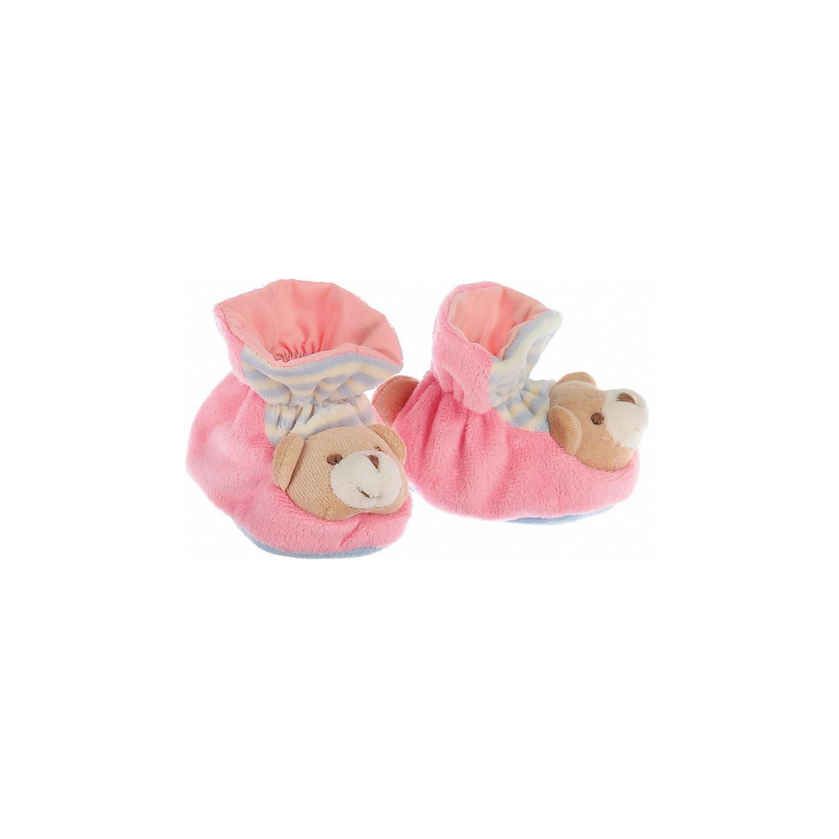 Пинетки с аппликацией Мишка, Baby Nice, розовыйОдежда, обувь и аксессуары для детей должны быть качественными и безопасными. Эти пинетки обеспечат ножкам малыша комфорт и тепло. Они украшены симпатичной мордочкой животного.<br>Пинетки сшиты из натуральной дышащей хлопчатобумажной ткани, приятной на ощупь. Она не вызывает аллергии, что особенно важно для малышей. Также материал обеспечит хорошую терморегуляцию. Ткань очень мягкая и теплая. Пинетки сделаны из высококачественных материалов, безопасных для ребенка.<br><br>Дополнительная информация:<br><br>цвет: розовый;<br>материал: 100% хлопок;<br>аппликация.<br><br>Пинетки с аппликацией Мишка от компании Baby Nice можно купить в нашем магазине.<br><br>Ширина мм: 100<br>Глубина мм: 60<br>Высота мм: 30<br>Вес г: 200<br>Возраст от месяцев: 0<br>Возраст до месяцев: 36<br>Пол: Женский<br>Возраст: Детский<br>SKU: 4941764
