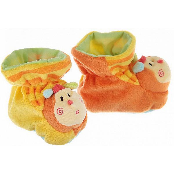 Пинетки с аппликацией Пчелки, Baby NiceПинетки и царапки<br>Одежда, обувь и аксессуары для детей должны быть качественными и безопасными. Эти пинетки обеспечат ножкам малыша комфорт и тепло. Они украшены симпатичной мордочкой пчелки.<br>Пинетки сшиты из натуральной дышащей хлопчатобумажной ткани, приятной на ощупь. Она не вызывает аллергии, что особенно важно для малышей. Также материал обеспечит хорошую терморегуляцию. Ткань очень мягкая и теплая. Пинетки сделаны из высококачественных материалов, безопасных для ребенка.<br><br>Дополнительная информация:<br><br>цвет: разноцветный;<br>материал: 100% хлопок;<br>аппликация.<br><br>Пинетки с аппликацией Пчелки от компании Baby Nice можно купить в нашем магазине.<br>Ширина мм: 100; Глубина мм: 60; Высота мм: 30; Вес г: 200; Возраст от месяцев: 0; Возраст до месяцев: 36; Пол: Унисекс; Возраст: Детский; SKU: 4941765;