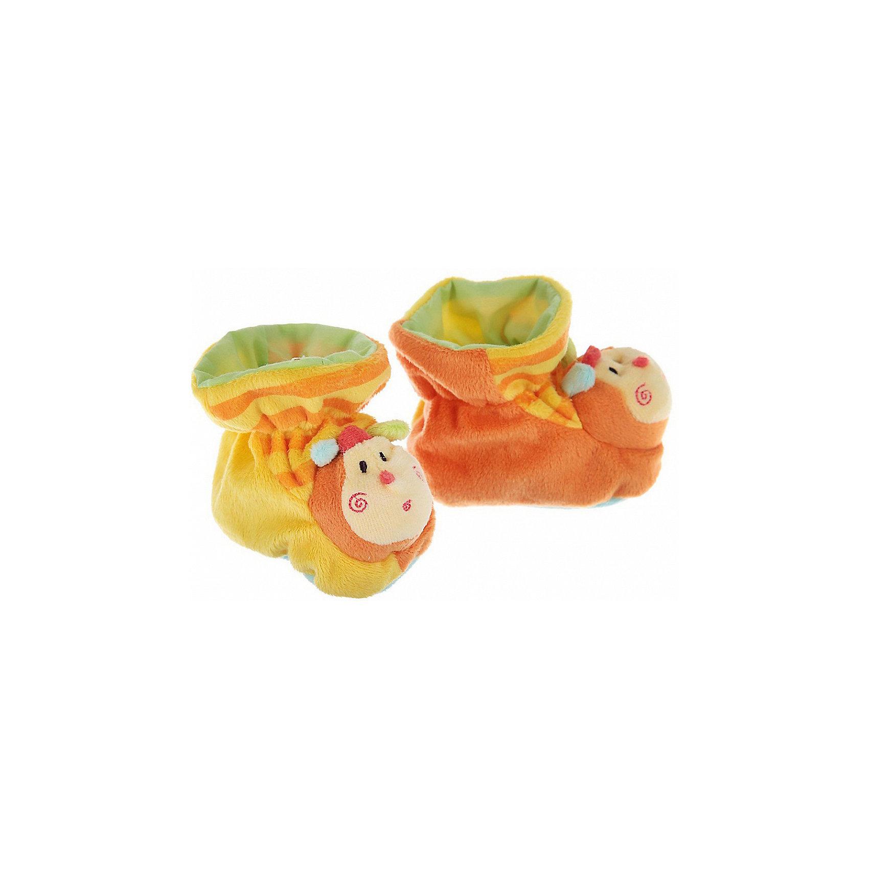 Пинетки с аппликацией Пчелки, Baby NiceПинетки и царапки<br>Одежда, обувь и аксессуары для детей должны быть качественными и безопасными. Эти пинетки обеспечат ножкам малыша комфорт и тепло. Они украшены симпатичной мордочкой пчелки.<br>Пинетки сшиты из натуральной дышащей хлопчатобумажной ткани, приятной на ощупь. Она не вызывает аллергии, что особенно важно для малышей. Также материал обеспечит хорошую терморегуляцию. Ткань очень мягкая и теплая. Пинетки сделаны из высококачественных материалов, безопасных для ребенка.<br><br>Дополнительная информация:<br><br>цвет: разноцветный;<br>материал: 100% хлопок;<br>аппликация.<br><br>Пинетки с аппликацией Пчелки от компании Baby Nice можно купить в нашем магазине.<br><br>Ширина мм: 100<br>Глубина мм: 60<br>Высота мм: 30<br>Вес г: 200<br>Возраст от месяцев: 0<br>Возраст до месяцев: 36<br>Пол: Унисекс<br>Возраст: Детский<br>SKU: 4941765