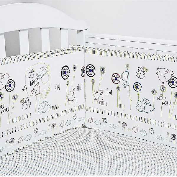 Бортик Ежик, бязь, Baby NiceБортики в кроватку для новорожденных<br>Постельные принадлежности для детей должны быть качественными и безопасными. Этот бортик разработан специально для малышей. Бортик защитит ребенка от сквозняков и ударов при поворотах в кровати.<br>Чехол - из натурального дышащего хлопка, приятного на ощупь. Он не вызывает аллергии, что особенно важно для малышей. Наполнитель - экологически чистый нетканый материал для мягкой мебели периотек, легкий, упругий и обеспечивающий хорошую терморегуляцию. Бортик сделана из высококачественных материалов, безопасных для ребенка.<br><br>Дополнительная информация:<br><br>цвет: разноцветный;<br>материал: хлопок, периотек;<br>4 стороны: 120х32 - 2 шт., 60х35 - 2 шт.;<br>декорирован принтом.<br><br>Бортик  Ежик, бязь, от компании Baby Nice можно купить в нашем магазине.<br>Ширина мм: 600; Глубина мм: 1200; Высота мм: 200; Вес г: 700; Возраст от месяцев: 0; Возраст до месяцев: 36; Пол: Унисекс; Возраст: Детский; SKU: 4941785;