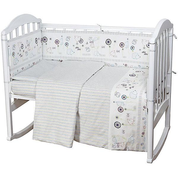 Детское постельное белье 3 предмета Baby Nice, Ёжик