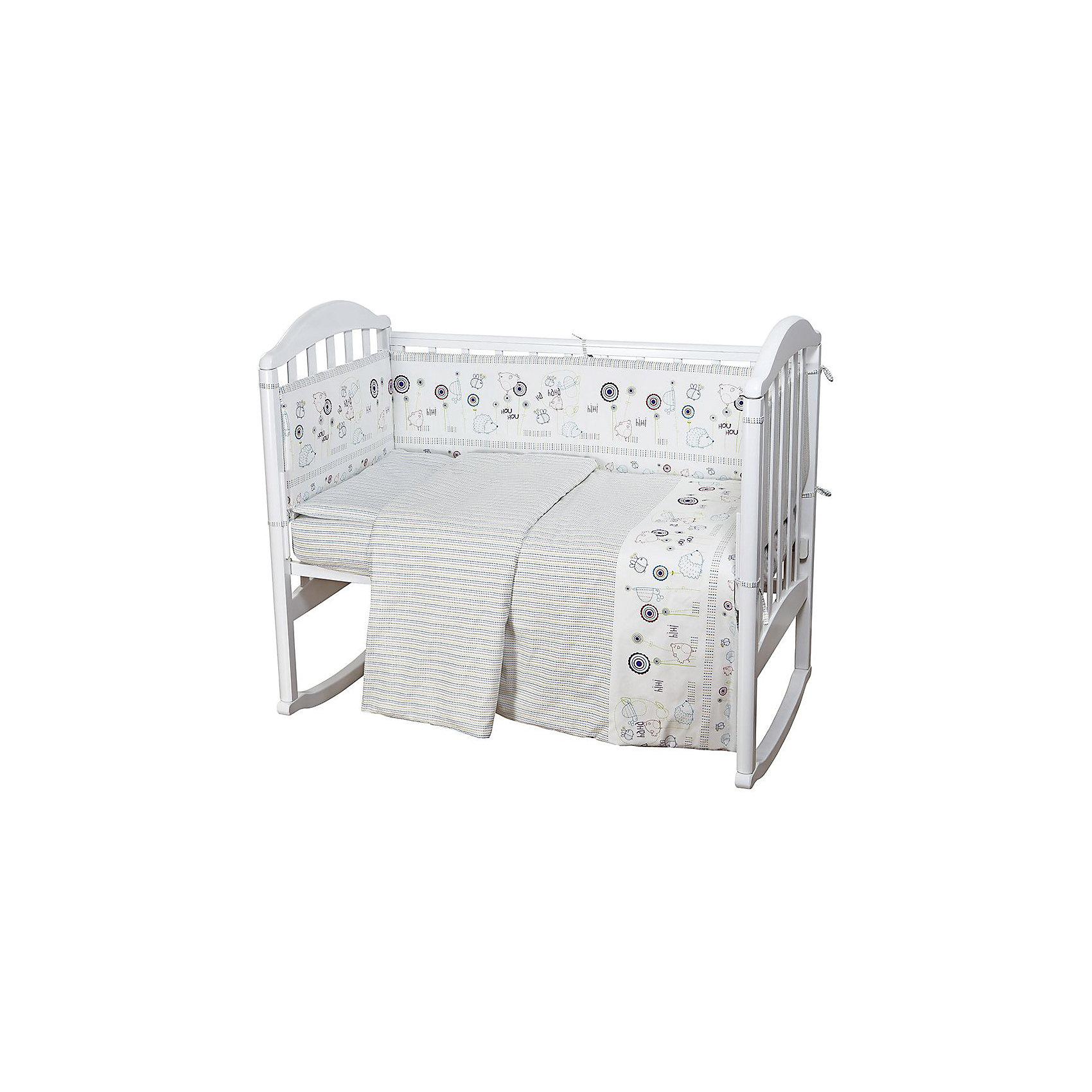 Постельное белье Ежик 3 пред., бязь, 60х120, Baby NiceМалыши требуют особой заботы. Постельное белье для них должно быть качественным и безопасным. Этот комплект обеспечит малышу комфорт и тепло в кроватке. Он украшен симпатичным принтом.<br>Набор сшит из натуральной дышащего материала - бязи, очень приятного на ощупь. Она не вызывает аллергии, что особенно важно для малышей. Также материал обеспечит хорошую терморегуляцию. Комплект сделан из высококачественных материалов, безопасных для ребенка.<br><br>Дополнительная информация:<br><br>цвет: разноцветный;<br>материал: 100% хлопок, бязь;<br>комплектация: наволочка 40х60 см, пододеяльник 112х147 см, простыня на резинке 60х120 см;<br>принт.<br><br>Постельное белье Ежик 3 пред., бязь 60х120, от компании Baby Nice можно купить в нашем магазине.<br><br>Ширина мм: 230<br>Глубина мм: 350<br>Высота мм: 40<br>Вес г: 500<br>Возраст от месяцев: 0<br>Возраст до месяцев: 36<br>Пол: Унисекс<br>Возраст: Детский<br>SKU: 4941786