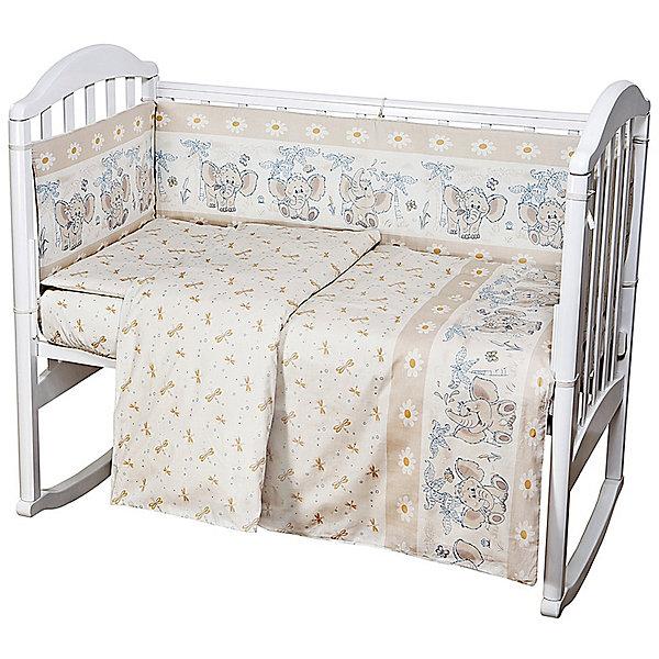 Постельное белье Слоник 6 пред., Baby Nice, бежевыйПостельное белье в кроватку новорождённого<br>Малыши требуют особой заботы. Постельное белье для них должно быть качественным и безопасным. Этот комплект обеспечит малышу комфорт и тепло в кроватке. Он украшен симпатичным принтом.<br>Набор сшит из натуральной дышащего материала - хлопка, мягкого и приятного на ощупь. Она не вызывает аллергии, что особенно важно для малышей. Также материал обеспечит хорошую терморегуляцию. Комплект сделан из высококачественных материалов, безопасных для ребенка.<br><br>Дополнительная информация:<br><br>цвет: бежевый;<br>материал: 100% хлопок, наполнитель - файбер;<br>комплектация: простыня 112 х 147 см, пододеяльник 112 х 147 см, наволочка 40 х 60, борт( 120х35-2 шт., 60х35-2 шт.), одеяло 110 х 140 см, подушка 40 х 60 см.;<br>принт.<br><br>Постельное белье  Слоник 6 пред., от компании Baby Nice можно купить в нашем магазине.<br><br>Ширина мм: 250<br>Глубина мм: 600<br>Высота мм: 450<br>Вес г: 1200<br>Возраст от месяцев: 0<br>Возраст до месяцев: 36<br>Пол: Унисекс<br>Возраст: Детский<br>SKU: 4941787