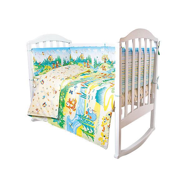 Постельное белье Гуси-лебеди Сказки 6 пред., Baby Nice, желтыйПостельное белье в кроватку новорождённого<br>Постельное белье для малышей должно быть качественным и безопасным. Этот комплект обеспечит малышу комфорт и тепло в кроватке. Он украшен симпатичным принтом.<br>Набор сшит из натуральной дышащего материала - хлопка, мягкого и приятного на ощупь. Она не вызывает аллергии, что особенно важно для малышей. Также материал обеспечит хорошую терморегуляцию. Комплект сделан из высококачественных материалов, безопасных для ребенка.<br><br>Дополнительная информация:<br><br>цвет: желтый;<br>материал: 100% хлопок, наполнитель - файбер;<br>комплектация: простыня 112 х 147 см, пододеяльник 112 х 147 см, наволочка 40 х 60, борт( 120х35-2 шт., 60х35-2 шт.), одеяло 110 х 140 см, подушка 40 х 60 см.;<br>принт.<br><br>Постельное белье Гуси-лебеди Сказки 6 пред., от компании Baby Nice можно купить в нашем магазине.<br>Ширина мм: 250; Глубина мм: 600; Высота мм: 450; Вес г: 1200; Возраст от месяцев: 0; Возраст до месяцев: 36; Пол: Унисекс; Возраст: Детский; SKU: 4941790;