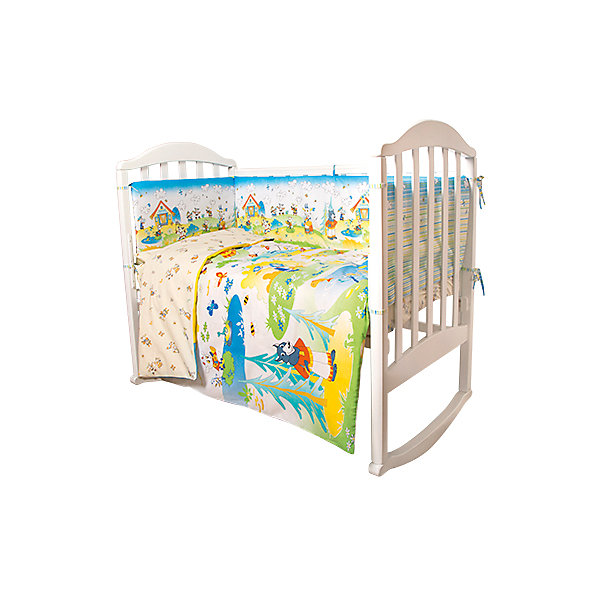 Постельное белье Семеро козлят Сказки 6 пред., Baby Nice, желтыйДетское постельное бельё 6 предметов<br>Малыши требуют особой заботы. Постельное белье для них должно быть качественным и безопасным. Этот комплект обеспечит малышу комфорт и тепло в кроватке. Он украшен симпатичным принтом.<br>Набор сшит из натуральной дышащего материала - хлопка, мягкого и приятного на ощупь. Она не вызывает аллергии, что особенно важно для малышей. Также материал обеспечит хорошую терморегуляцию. Комплект сделан из высококачественных материалов, безопасных для ребенка.<br><br>Дополнительная информация:<br><br>цвет: голубой;<br>материал: 100% хлопок, наполнитель - файбер;<br>комплектация: простыня 112 х 147 см, пододеяльник 112 х 147 см, наволочка 40 х 60, борт( 120х35-2 шт., 60х35-2 шт.), одеяло 110 х 140 см, подушка 40 х 60 см.;<br>принт.<br><br>Постельное белье Семеро козлят Сказки 6 пред., от компании Baby Nice можно купить в нашем магазине.<br><br>Ширина мм: 250<br>Глубина мм: 600<br>Высота мм: 450<br>Вес г: 1200<br>Возраст от месяцев: 0<br>Возраст до месяцев: 36<br>Пол: Унисекс<br>Возраст: Детский<br>SKU: 4941794