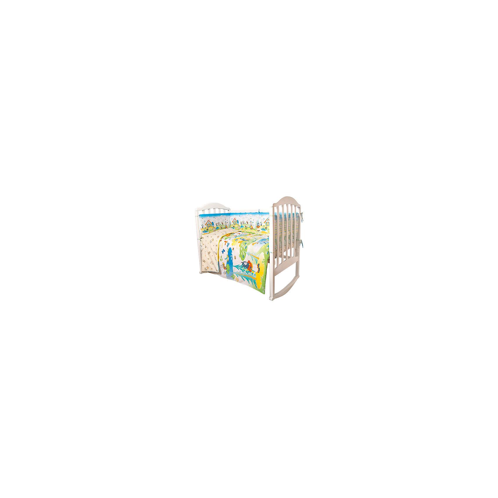 Постельное белье Семеро козлят Сказки 6 пред., Baby Nice, желтыйПостельное бельё<br>Малыши требуют особой заботы. Постельное белье для них должно быть качественным и безопасным. Этот комплект обеспечит малышу комфорт и тепло в кроватке. Он украшен симпатичным принтом.<br>Набор сшит из натуральной дышащего материала - хлопка, мягкого и приятного на ощупь. Она не вызывает аллергии, что особенно важно для малышей. Также материал обеспечит хорошую терморегуляцию. Комплект сделан из высококачественных материалов, безопасных для ребенка.<br><br>Дополнительная информация:<br><br>цвет: голубой;<br>материал: 100% хлопок, наполнитель - файбер;<br>комплектация: простыня 112 х 147 см, пододеяльник 112 х 147 см, наволочка 40 х 60, борт( 120х35-2 шт., 60х35-2 шт.), одеяло 110 х 140 см, подушка 40 х 60 см.;<br>принт.<br><br>Постельное белье Семеро козлят Сказки 6 пред., от компании Baby Nice можно купить в нашем магазине.<br><br>Ширина мм: 250<br>Глубина мм: 600<br>Высота мм: 450<br>Вес г: 1200<br>Возраст от месяцев: 0<br>Возраст до месяцев: 36<br>Пол: Унисекс<br>Возраст: Детский<br>SKU: 4941794