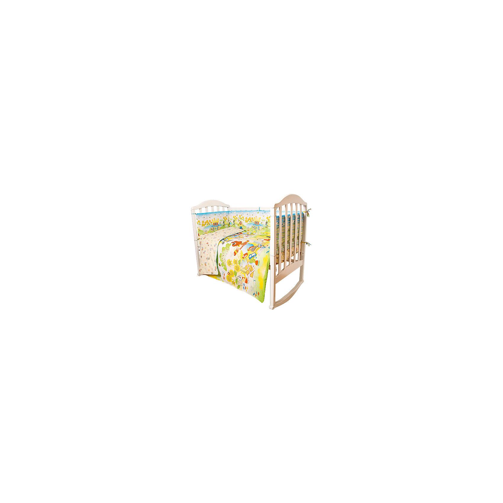 Постельное белье Теремок Сказки 6 пред., Baby Nice, желтыйМалыши требуют особой заботы. Постельное белье для них должно быть качественным и безопасным. Этот комплект обеспечит малышу комфорт и тепло в кроватке. Он украшен симпатичным принтом.<br>Набор сшит из натуральной дышащего материала - хлопка, мягкого и приятного на ощупь. Она не вызывает аллергии, что особенно важно для малышей. Также материал обеспечит хорошую терморегуляцию. Комплект сделан из высококачественных материалов, безопасных для ребенка.<br><br>Дополнительная информация:<br><br>цвет: желтый;<br>материал: 100% хлопок, наполнитель - файбер;<br>комплектация: простыня 112 х 147 см, пододеяльник 112 х 147 см, наволочка 40 х 60, борт( 120х35-2 шт., 60х35-2 шт.), одеяло 110 х 140 см, подушка 40 х 60 см.;<br>принт.<br><br>Постельное белье Теремок Сказки 6 пред., от компании Baby Nice можно купить в нашем магазине.<br><br>Ширина мм: 250<br>Глубина мм: 600<br>Высота мм: 450<br>Вес г: 1200<br>Возраст от месяцев: 0<br>Возраст до месяцев: 36<br>Пол: Унисекс<br>Возраст: Детский<br>SKU: 4941795